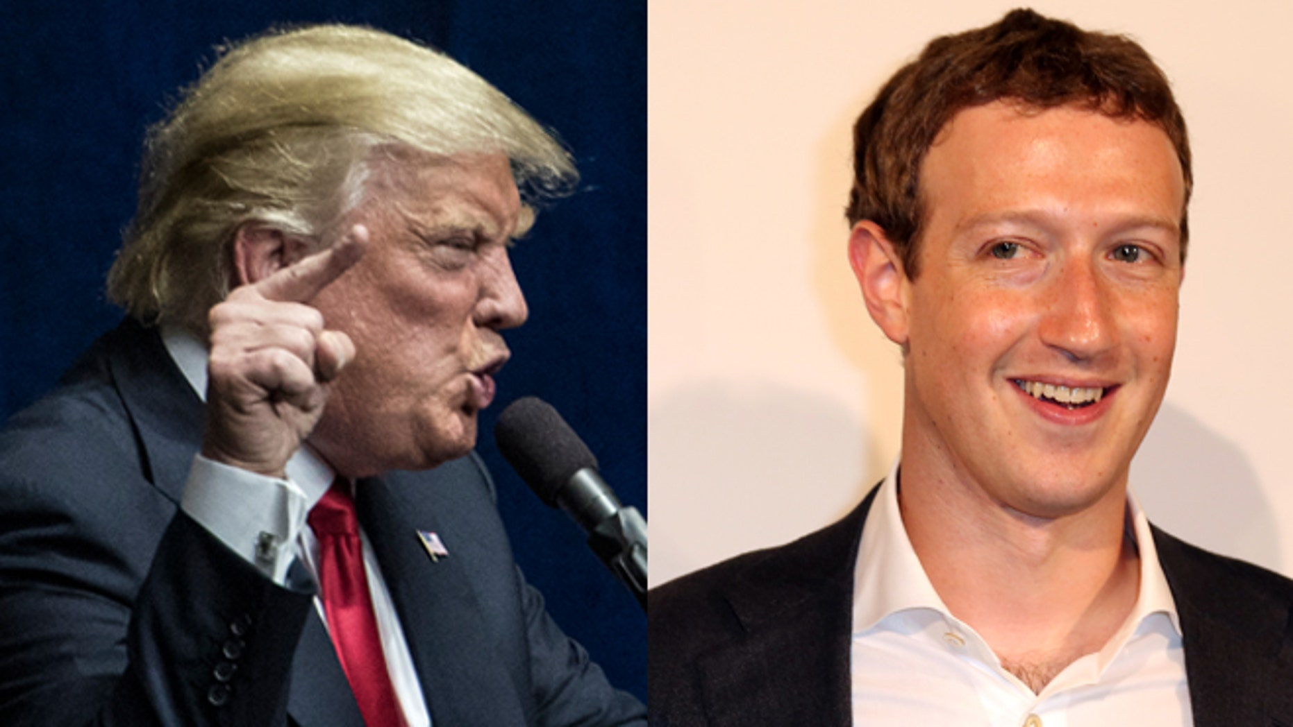 Donald Trump (left) and Mark Zuckerberg. (Photos: Getty Images)