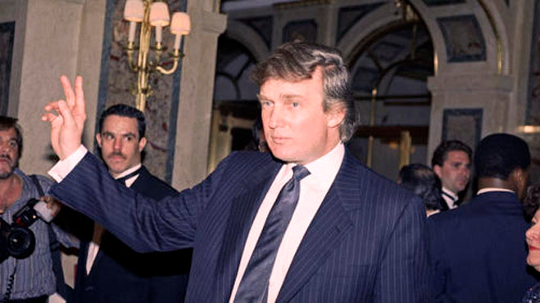 FILE - In this April 9, 1991 file photo, Donald Trump is seen in New York. Back when Trumps love life was tabloid heaven, a Trump spokesman with intimate knowledge of the businessmans personal relationships offered juicy stories about a failing marriage, a new live-in paramour and three other girlfriends he was juggling at once. (AP Photo/Luiz Ribeiro, File)