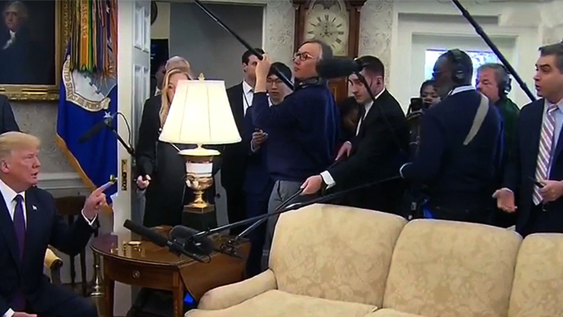 President Trump kicked CNN star Jim Acosta out of the Oval Office after the reporter badgered him with questions.
