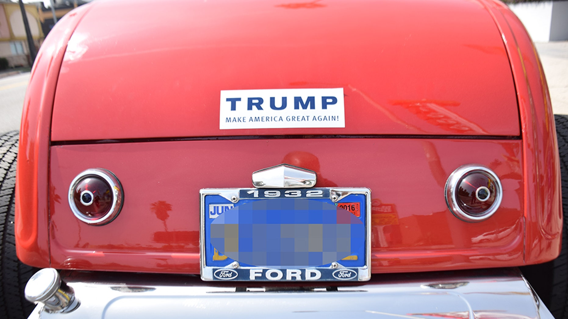 A Massachusetts woman was reportedly taken into custody on Monday after she allegedly drove into a car sporting a Trump bumper sticker.