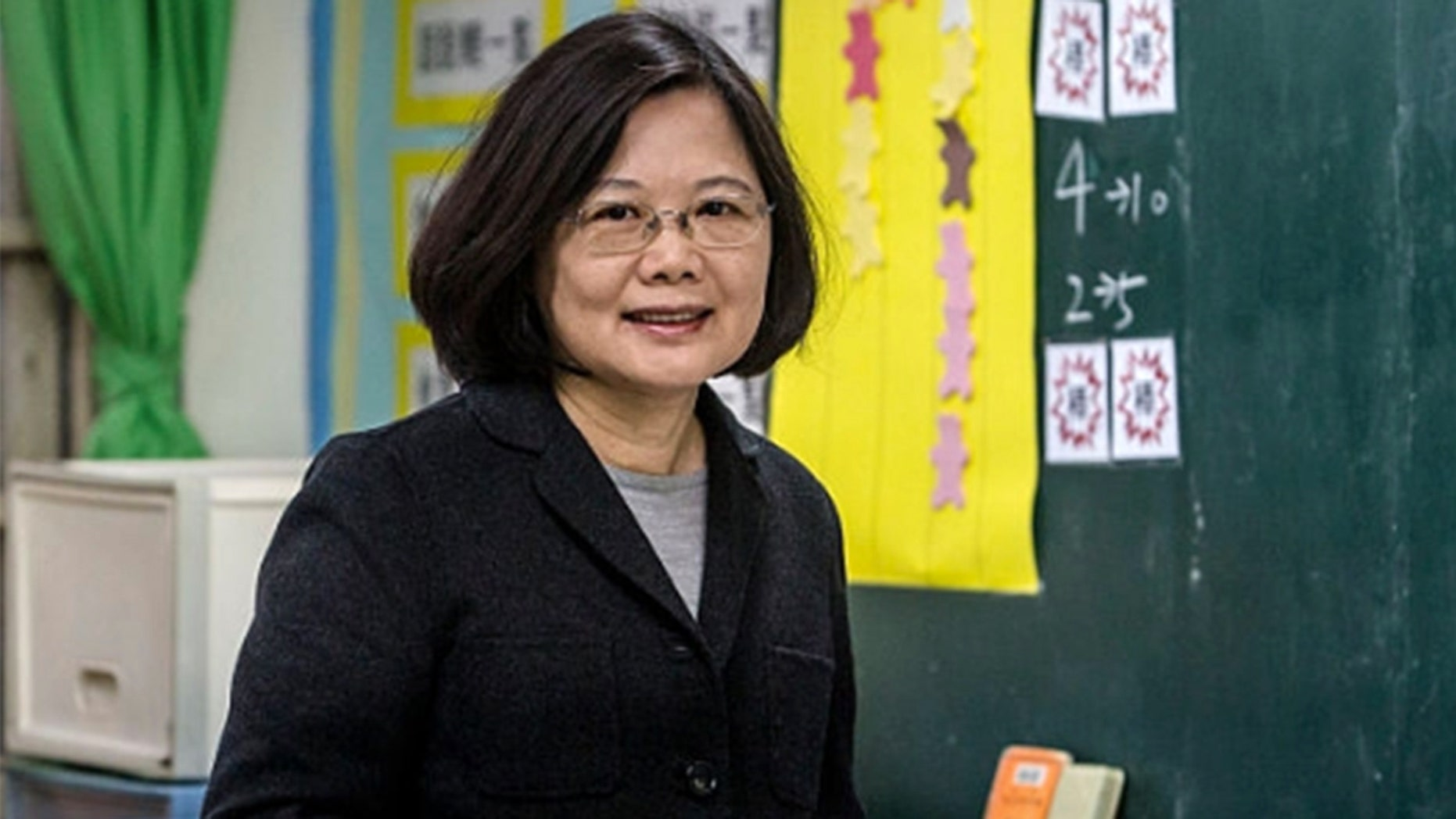 """Taiwan's President Tsai Ing-wen is seen above. She said that no one can """"obliterate"""" her country's existence."""