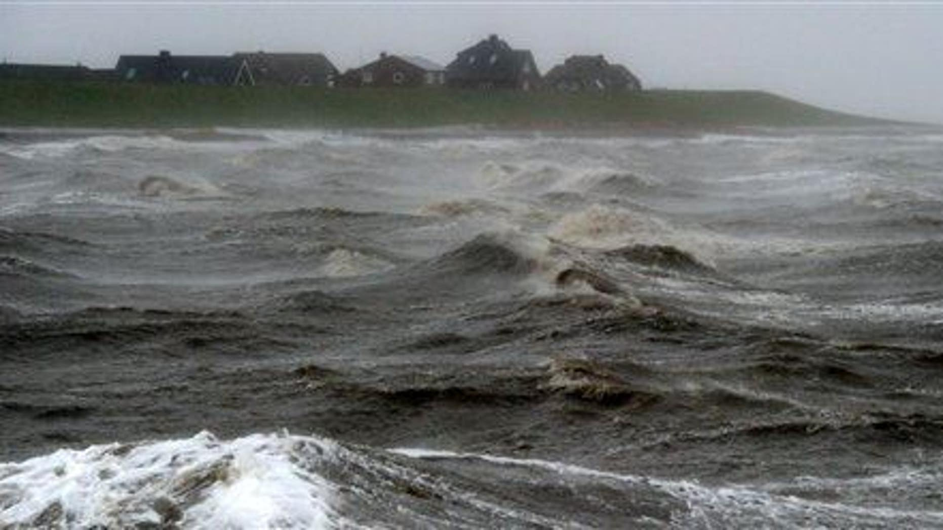 Waves batter the North Sea coast many centuries after Doggerland disappeared.