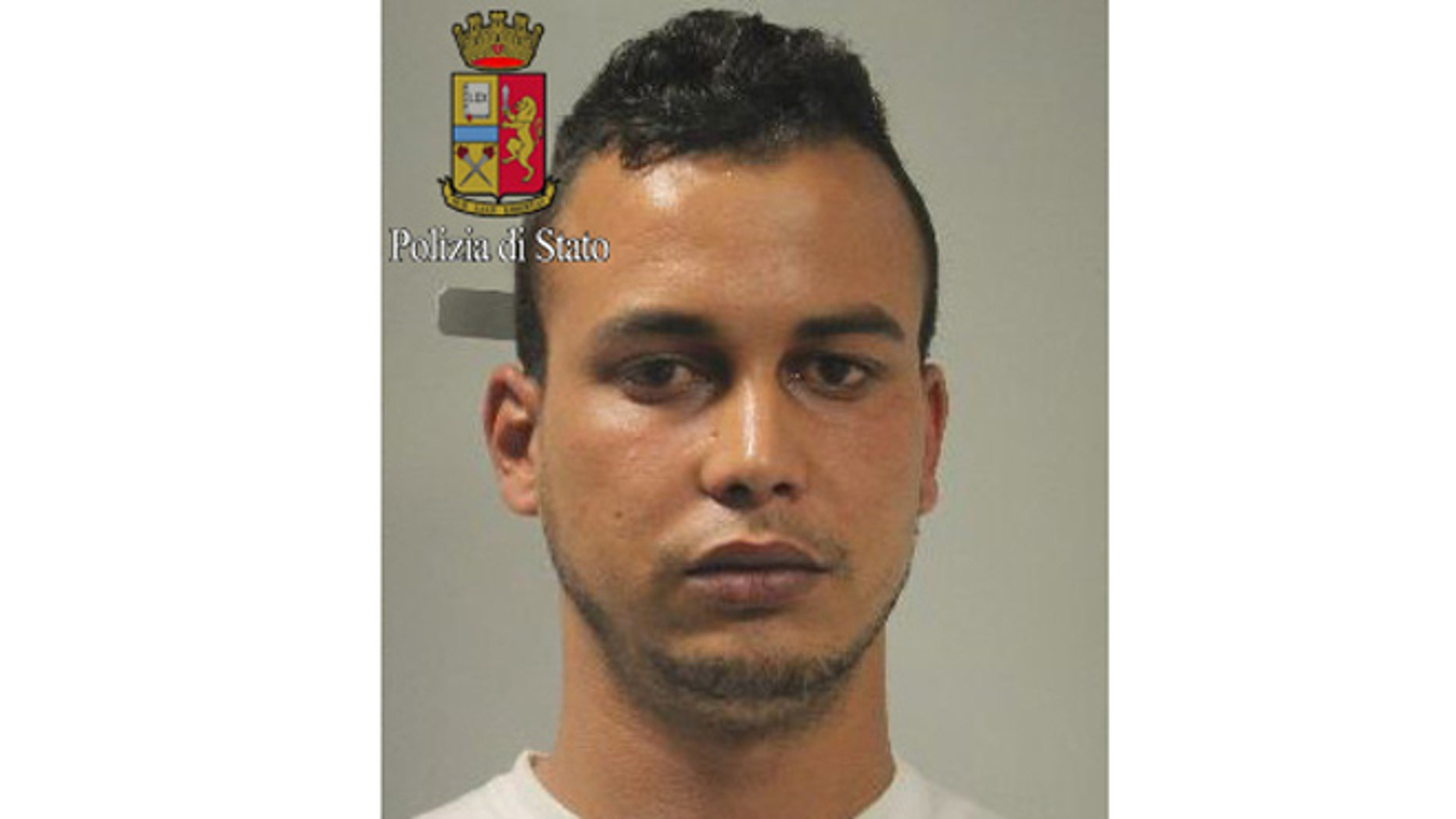 This photo released by Italian Police on May 20, 2015, shows Touil Abdelmajid, who was arrested Tuesday evening May 19 at the home of his mother in Gaggiano, near Milan.