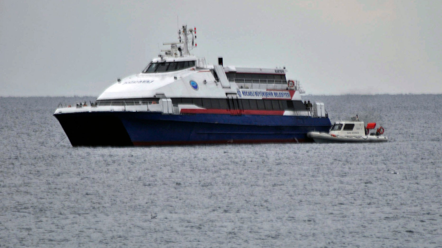 Nov. 12, 2011: The hijacked passenger boat Kartepe is seen after a commando raid off Silivri, west of Istanbul, Turkey.