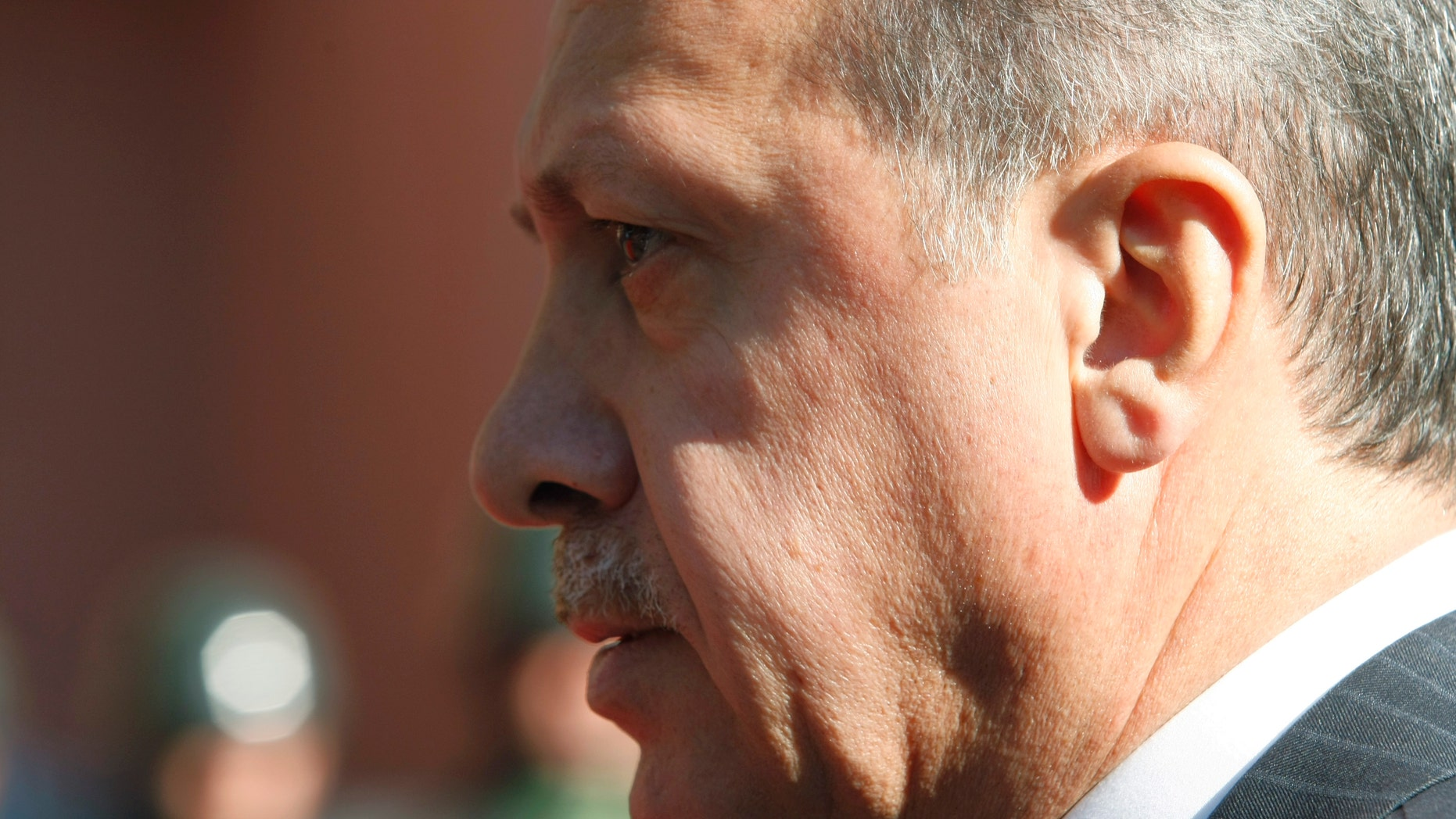 """September 8: Turkish  Prime Minister Recep Tayyip Erdogan walks before a ceremony outside his office in Ankara, Turkey. Erdogan said on the eve of a visit to Egypt that Israel's raid on a Gaza-bound aid flotilla last year was """"cause for war"""" but that his country had shown """"patience"""" and refrained from taking any action."""