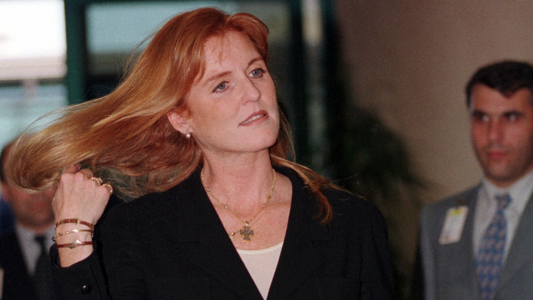 June 10, 1998: In this file photo Britain's Duchess of York, Sarah Ferguson arrives at Istanbul's Ataturk airport.