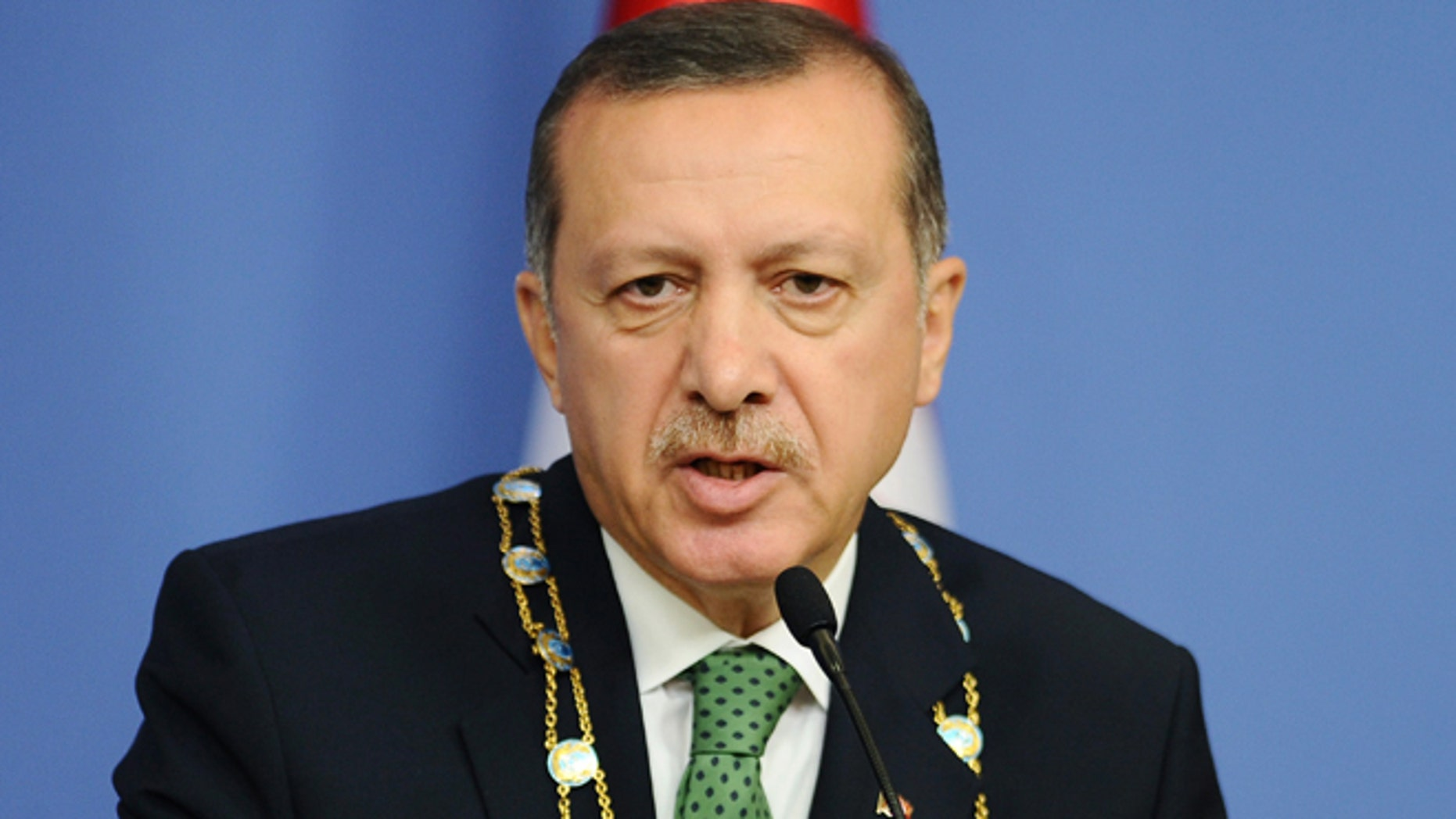 Oct. 11: Turkey's Prime Minister Recep Tayyip Erdogan speaks during a news conference in Ankara.
