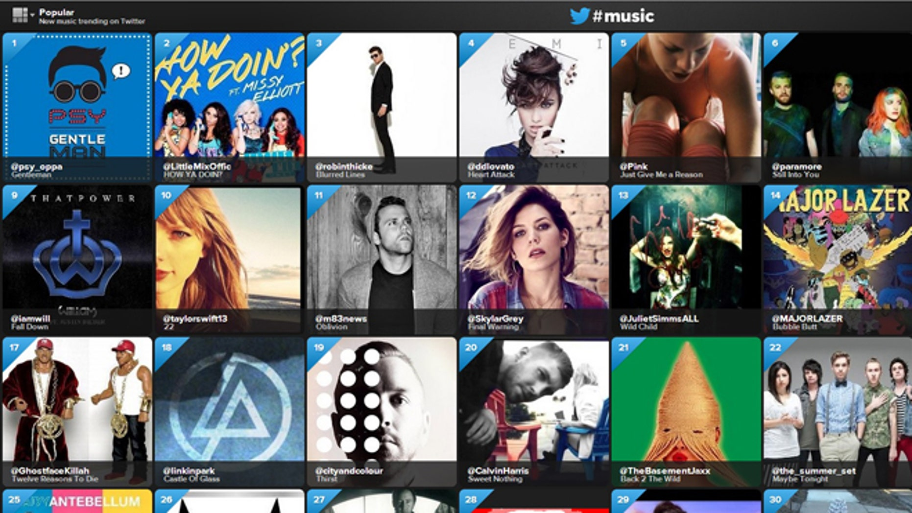 April 18, 2013: Microblogging site Twitter launched a new social music service today, letting people easily discover and share new music from their favorite artists.