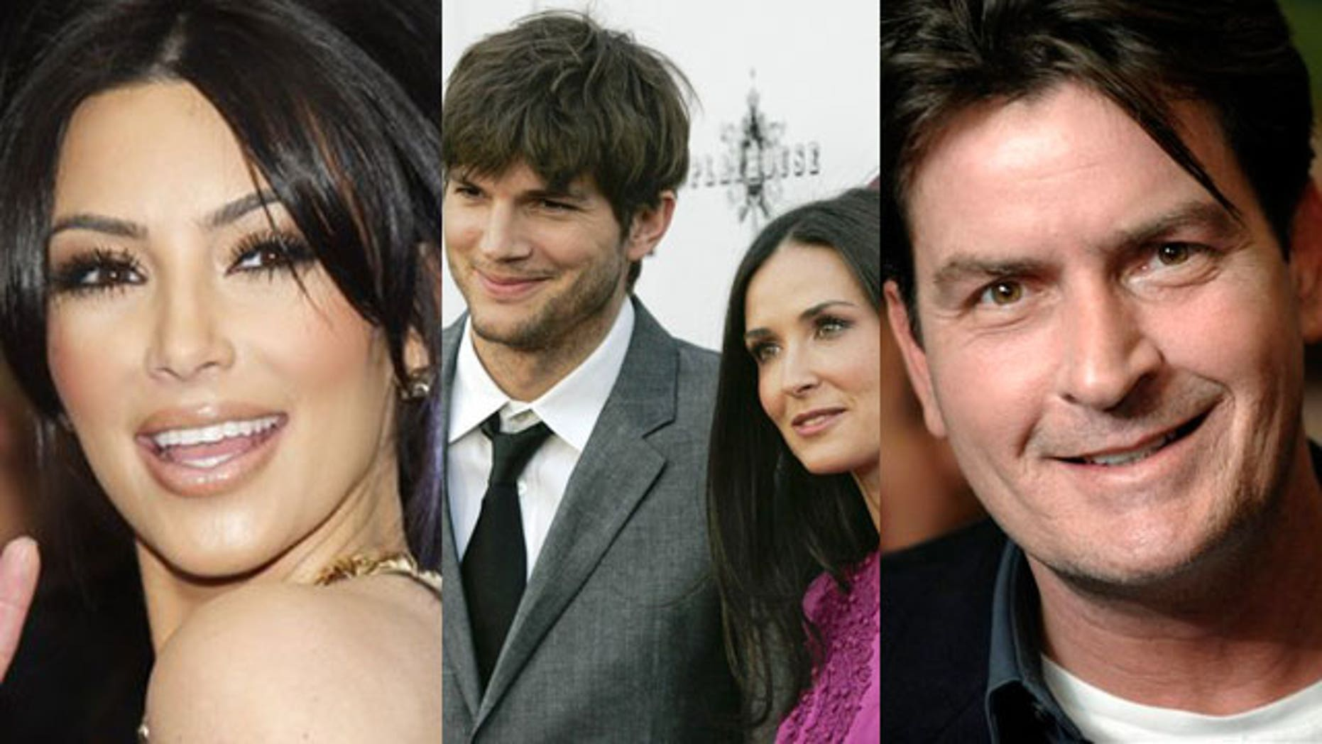 Are your favorite Tweeting celebs like Kim Kardashian, Ashton Kutcher and Demi Moore and Charlie Sheen controlling their Twitter? (AP/Reuters)