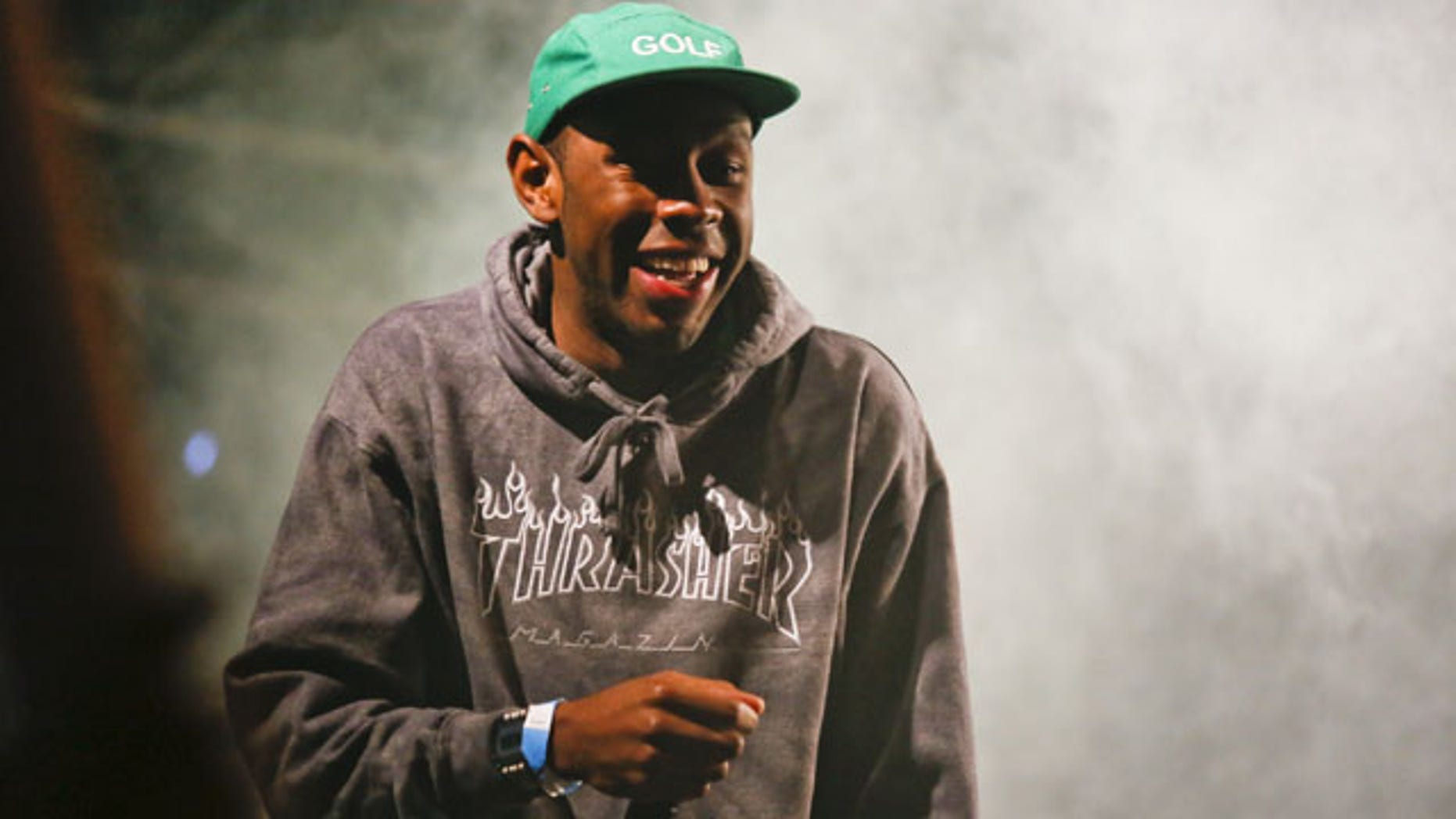 March 14, 2014: Tyler, The Creator performs during the SXSW Music Festival in Austin, Texas. (Photo by Jack Plunkett/Invision/AP)