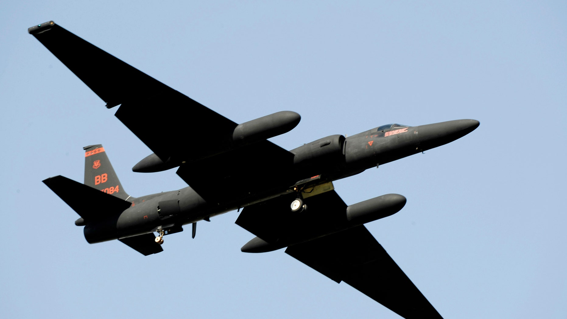 A U-2 'Dragon Lady' aircraft takes off from Osan Air Base, South Korea in this U.S. Air Force handout photo taken on October 21, 2009.