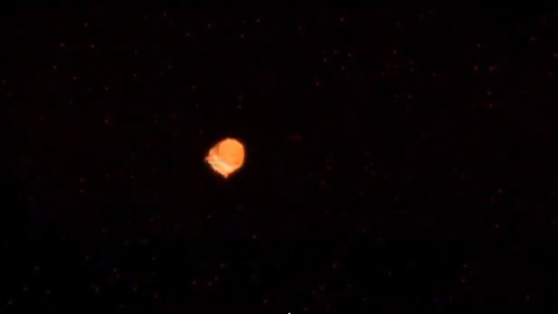 NASA astronaut Chirs Cassidy spied this object floating past the International Space Station.