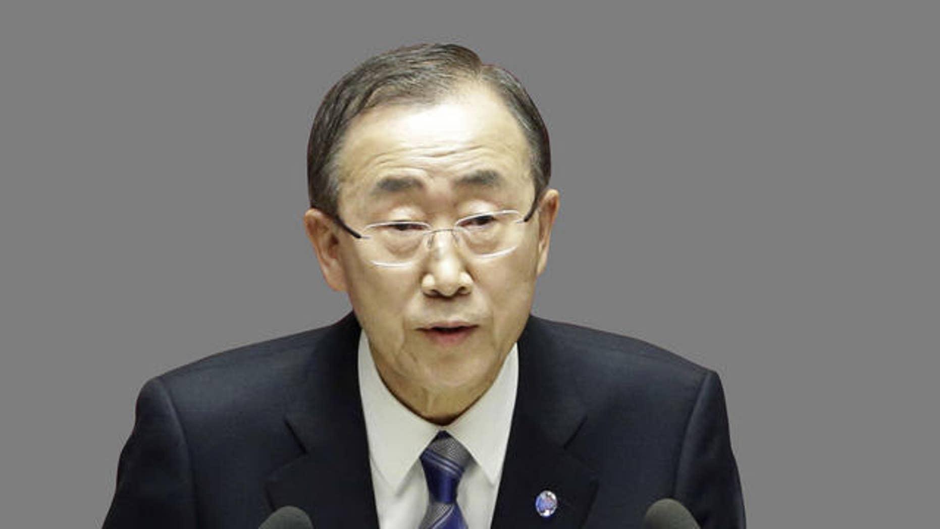 November 21, 2012 - FILE photo of U.N. Secretary-General Ban Ki-moon