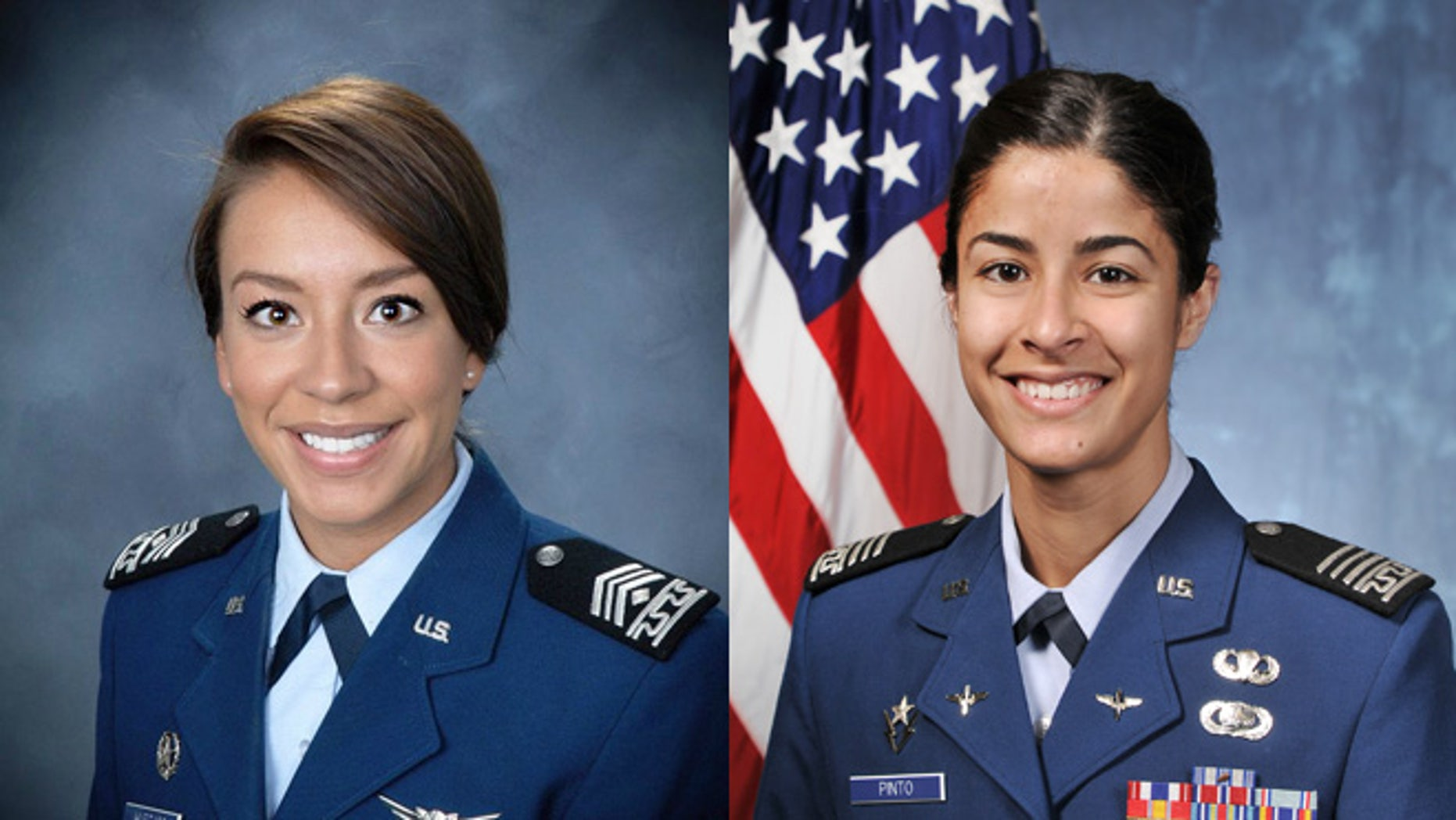 6fefef072b1 U.S. Air Force Academy Cadets First Class Susan Pinto (left) and Natalia  Hurtado.