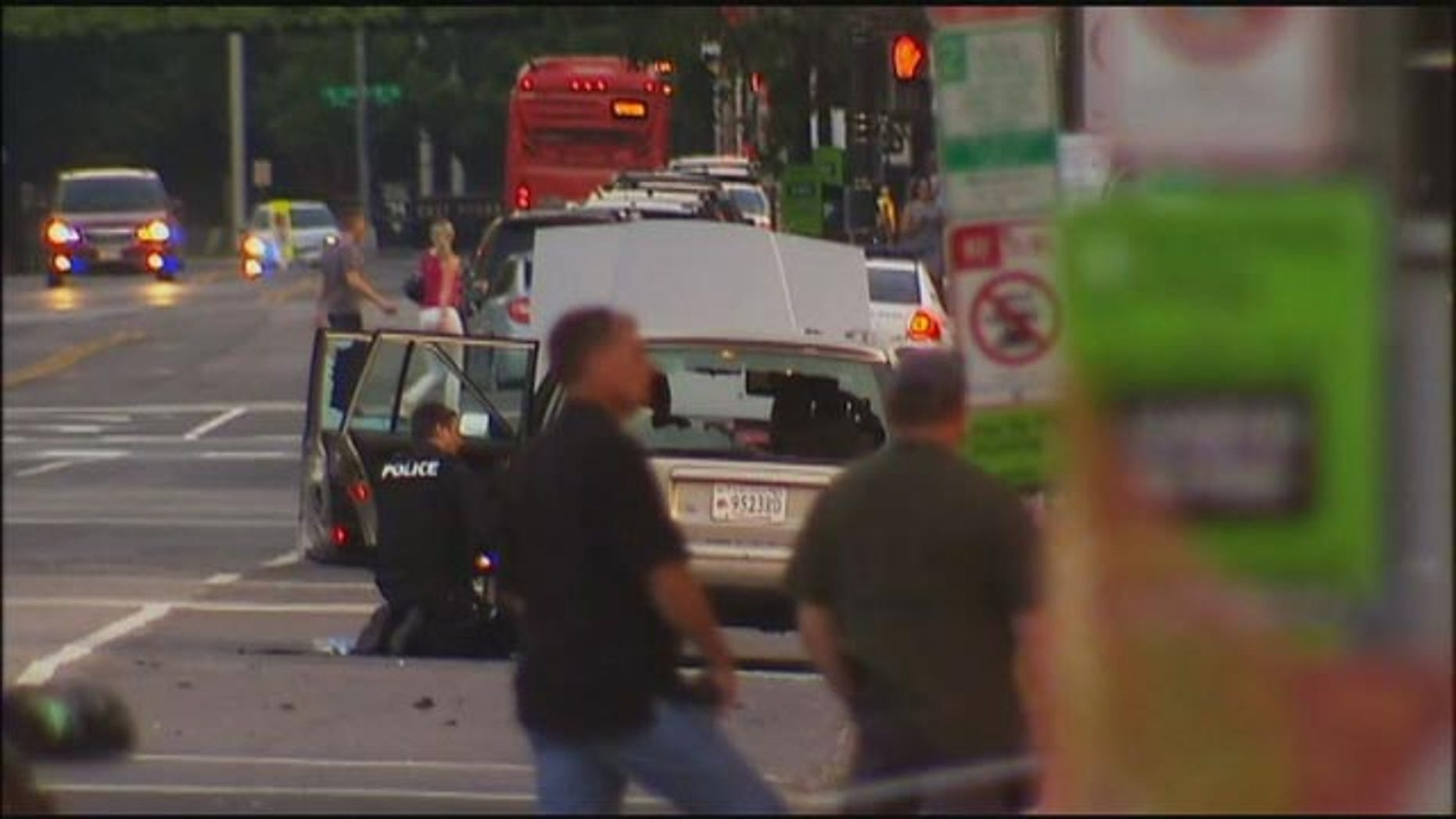 May 24, 2015: Police check a suspicious vehicle near the West Front of the U.S. Capitol Building in Washington D.C. (MyFoxDC.com)