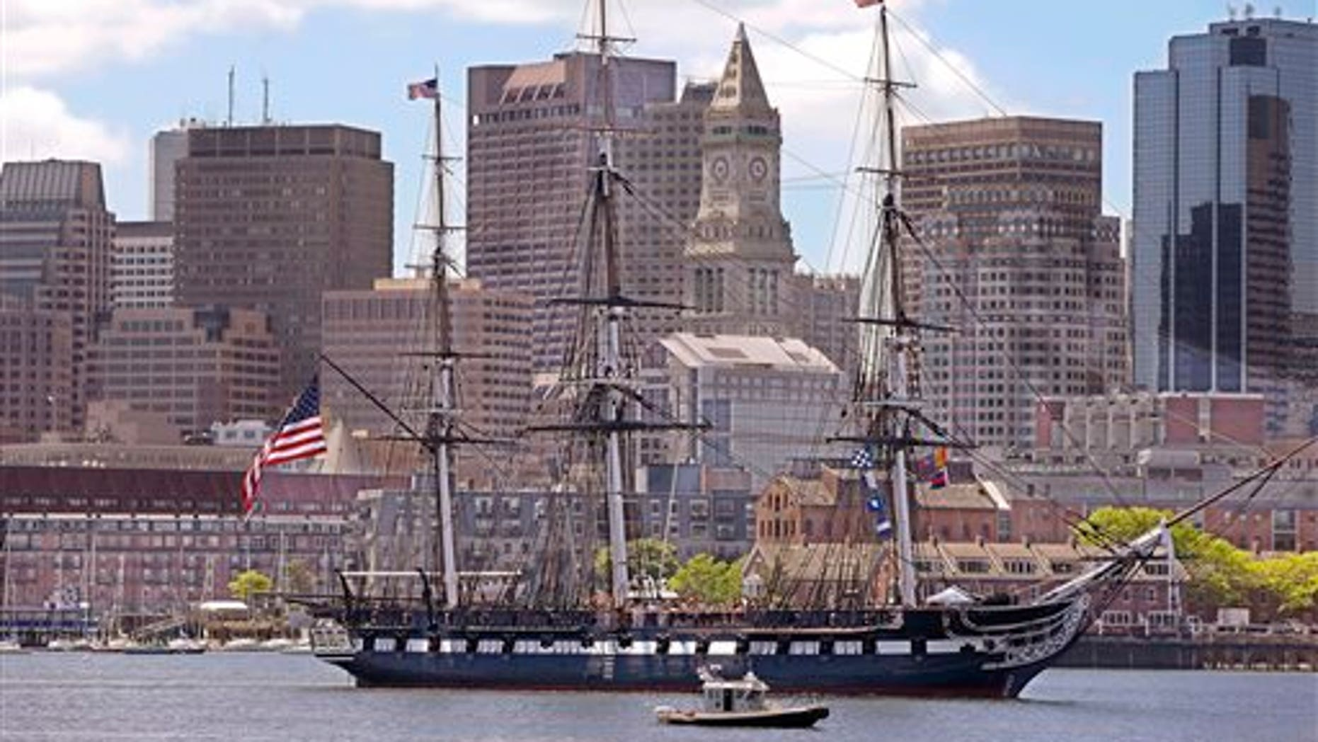 The USS Constitution. (AP Photo/Stephan Savoia)