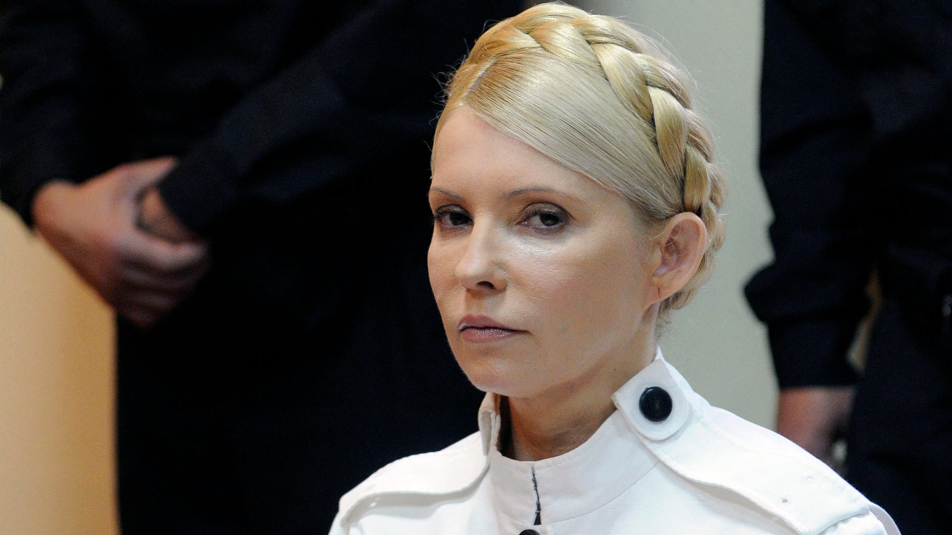 June 29, 2011: In this file photo, former Ukrainian Prime Minister Yulia Tymoshenko appears during a trial hearing at the Pecherskiy District Court in Kiev, Ukraine.