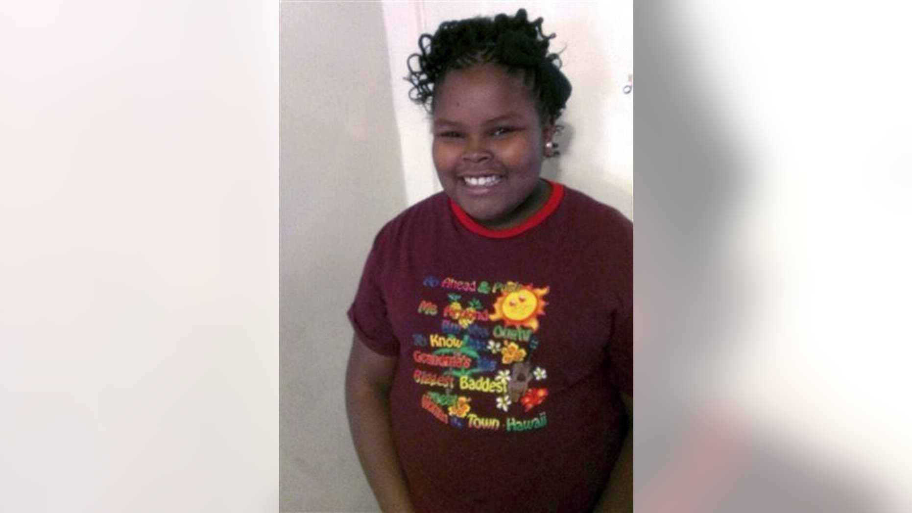 This undated file photo provided by the McMath family shows Jahi McMath.