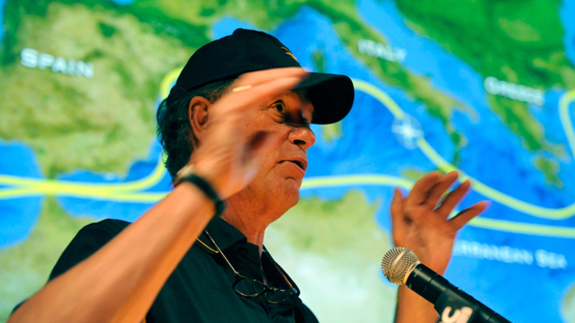 July 28, 2011: Dr. Robert Ballard, president of the Sea Research Foundation at the Mystic Aquarium Institute for Exploration, announces details about his next expedition  at the Nautilus Live Theater at the Mystic Aquarium Institute of Exploration,  in Mystic, Conn.