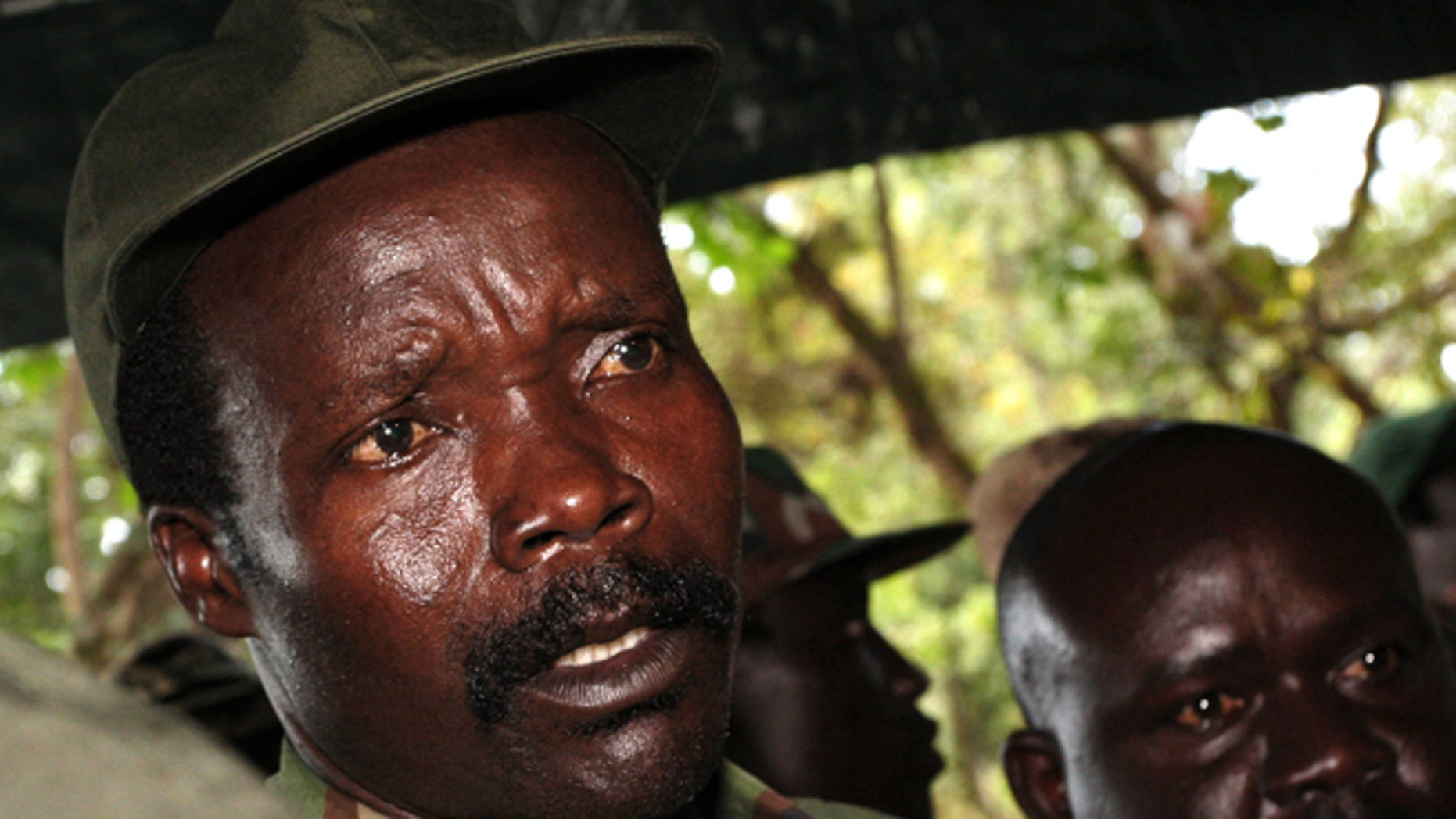 This Nov. 12, 2006 file photo shows the leader of the Lord's Resistance Army, Joseph Kony in southern Sudan.