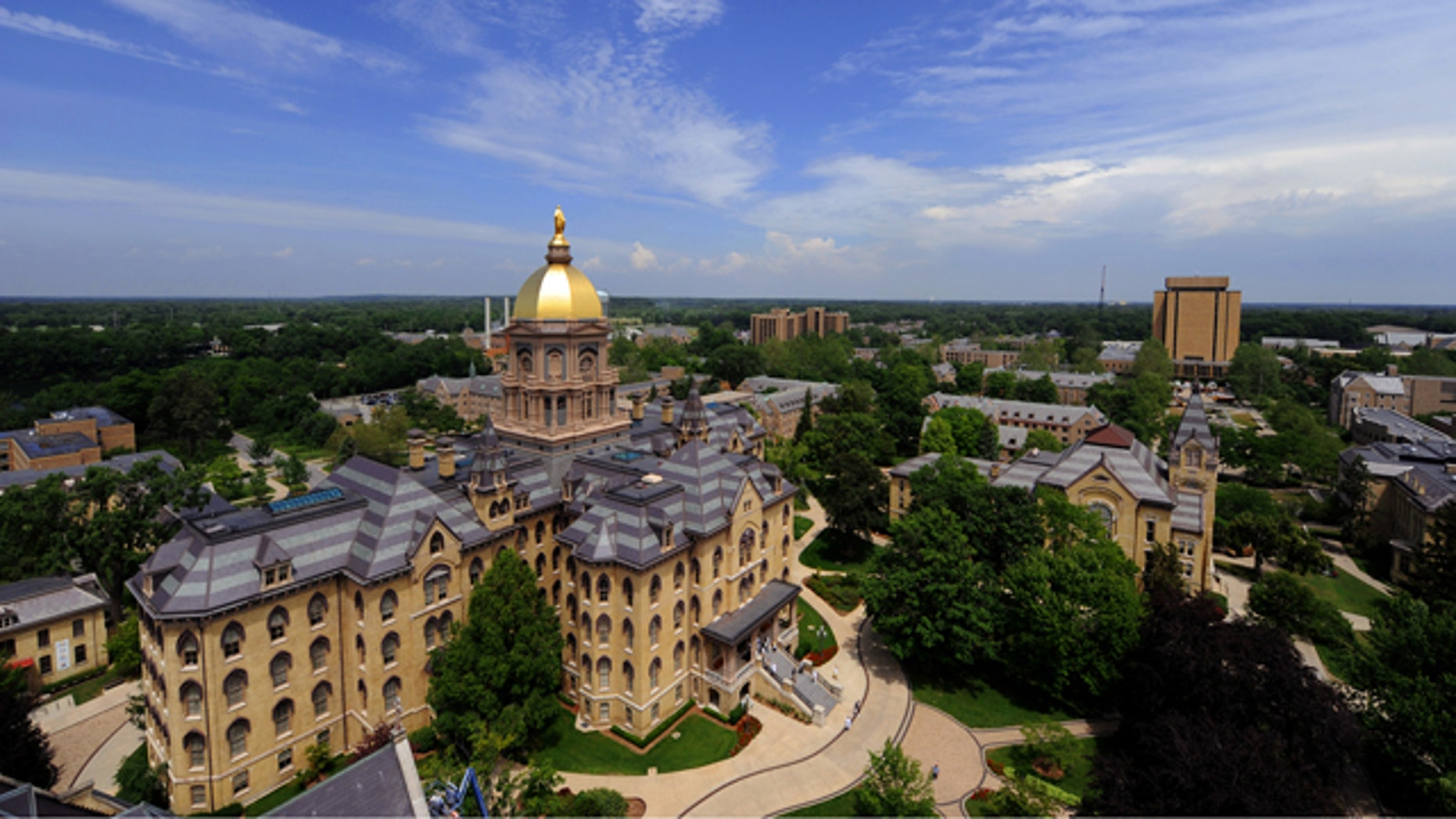 A group of students at the University of Notre Dame advocating traditional marriage have been told their club won't be officially recognized by the school since its purpose mirrors that of other groups on campus. (Matt Cashore/University of Notre Dame)
