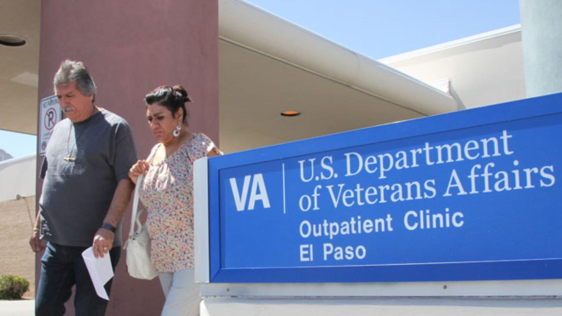 June 9, 2014: David and Marianne Trujillo exit the Vetaran Affairs facility in El Paso, Texas.