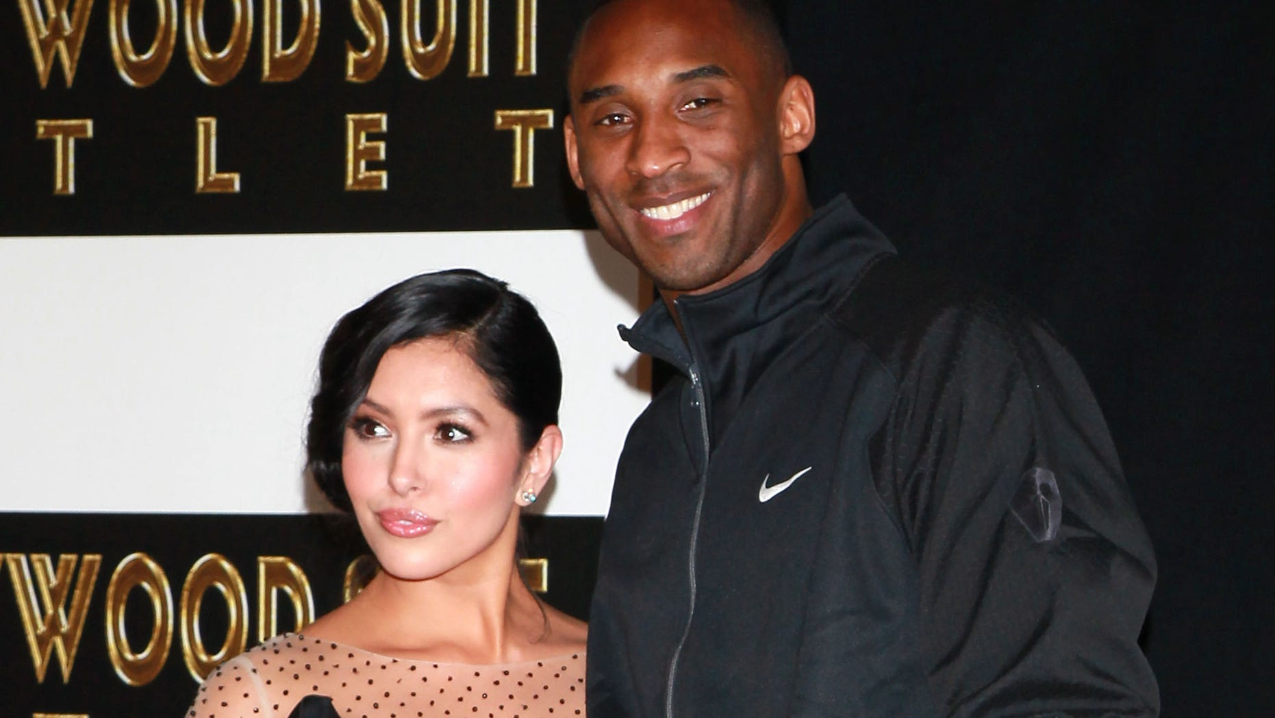 HOLLYWOOD, CA - FEBRUARY 19:  NBA player Kobe Bryant (R) and wife Vanessa Bryant attend his hand and footprint ceremony at Grauman's Chinese Theater on February 19, 2011 in Hollywood, California.  (Photo by David Livingston/Getty Images)