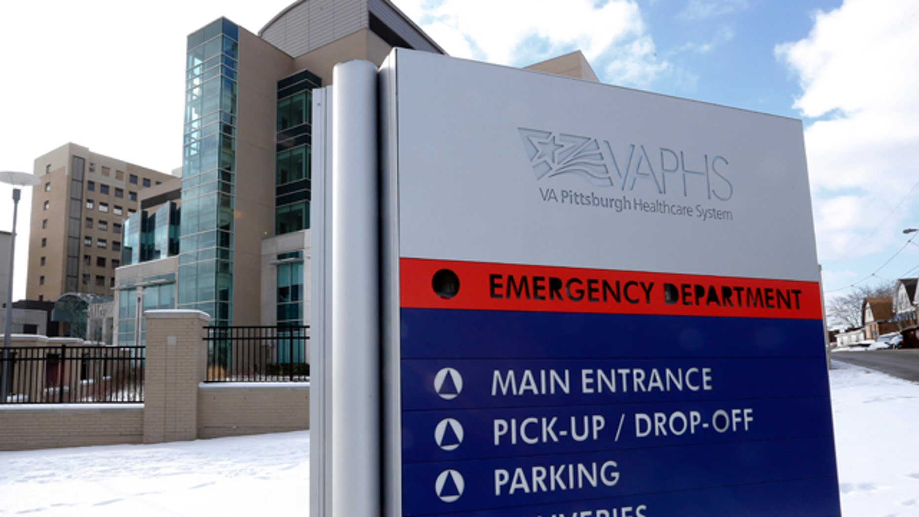FILE: Feb. 6, 2013: One of two Veterans Affairs hospital in Pittsburgh in which veterans fell ill from Legionnaires' disease. Pittsburgh, Pa.