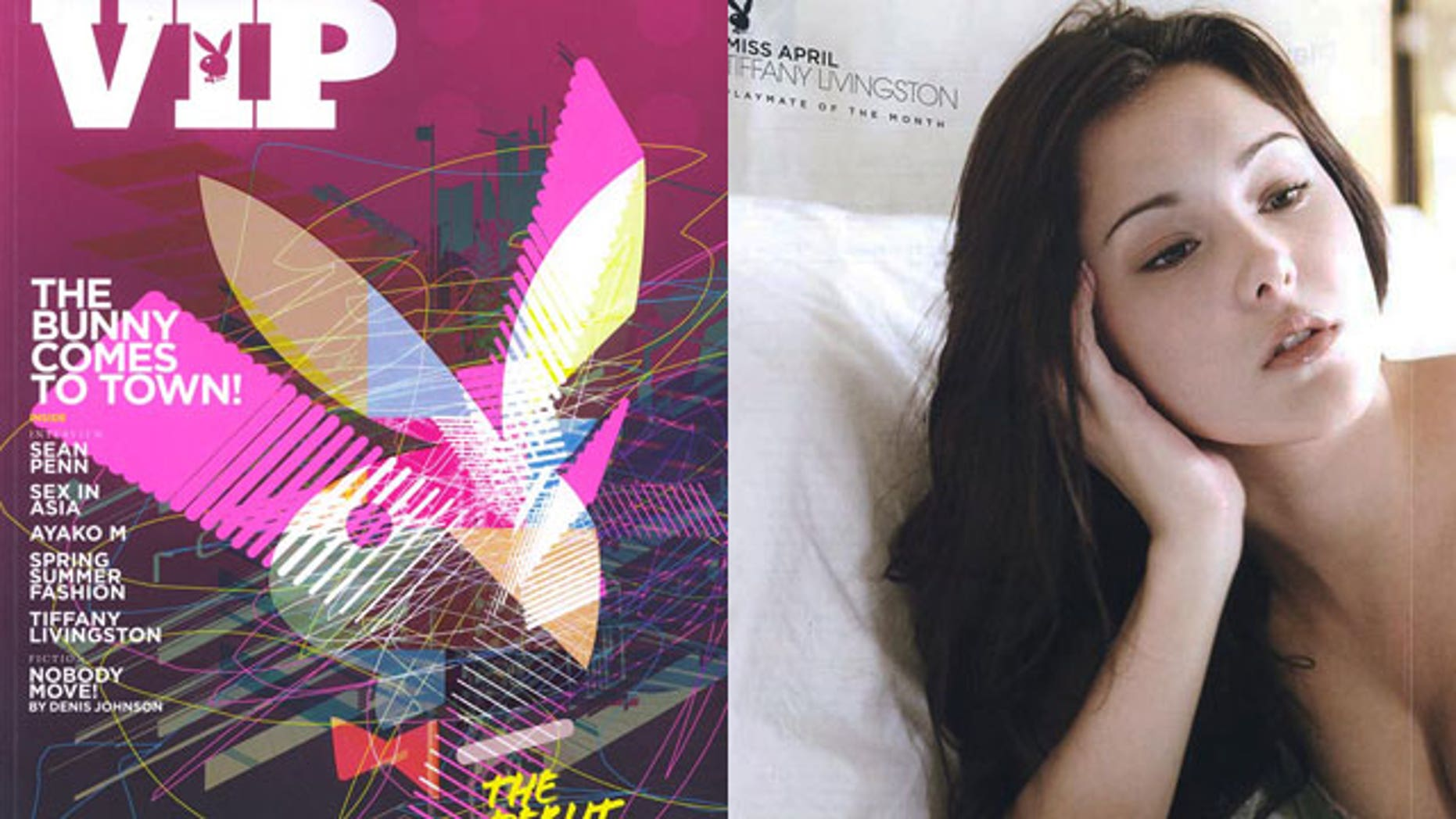 A model who appeared on the cover of Singapore's version of Playboy was detained yesterday after trying to escape from the plane mid-flight.