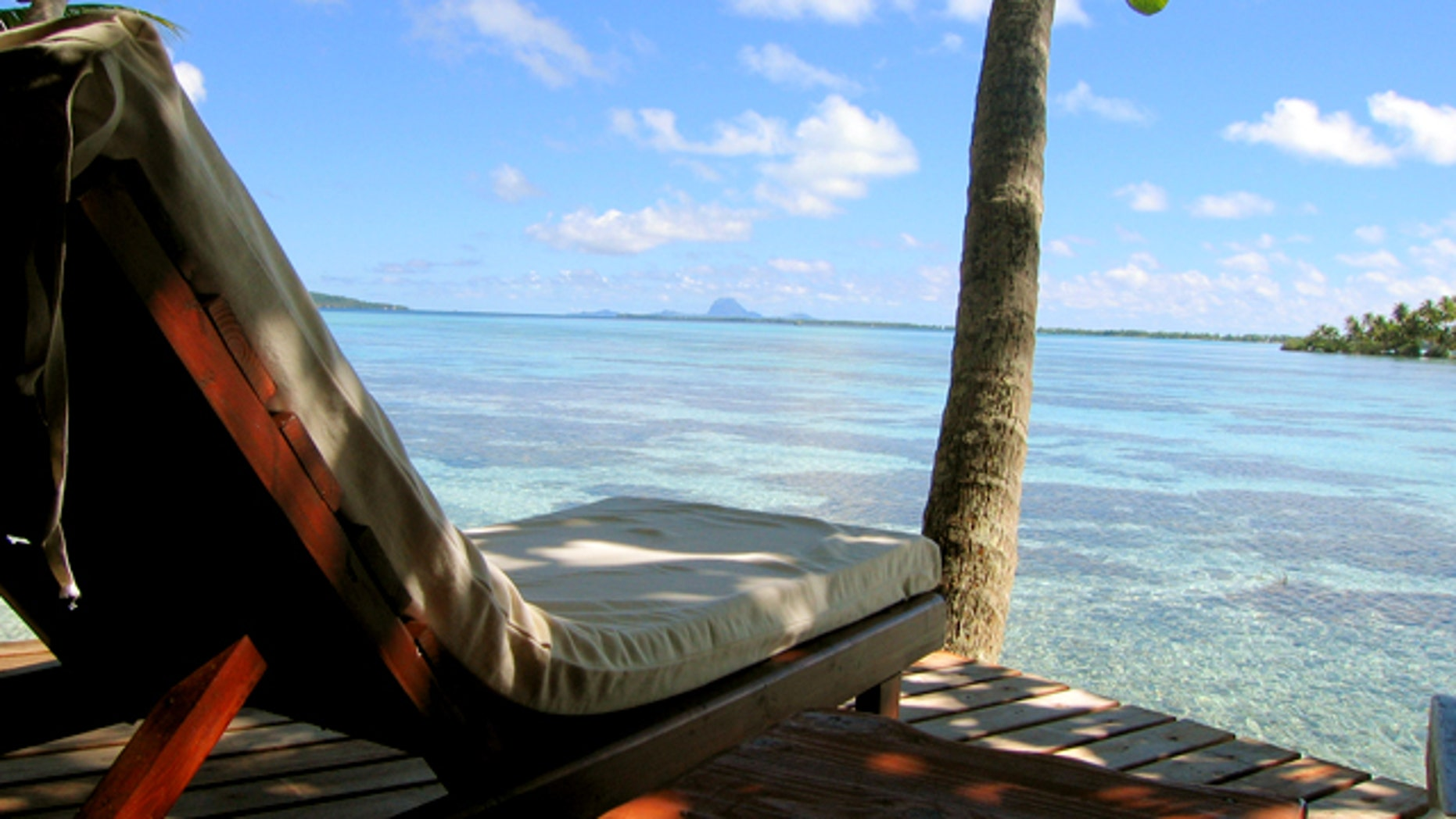A view of Tahiti in the Pacific from Vahine Island resort. A new study shows that despite concerns about rising sea levels, many Pacific islands are actually growing.
