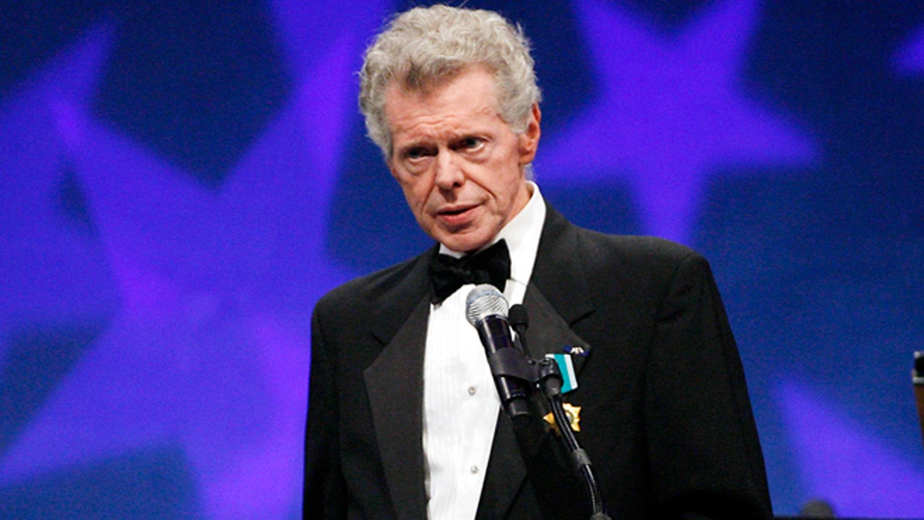 This Sept. 18, 2008 file photo shows pianist Van Cliburn at the presentation ceremony of the Liberty Medal that was presented to former President of the Soviet Union Mikhail Gorbachev in Philadelphia.