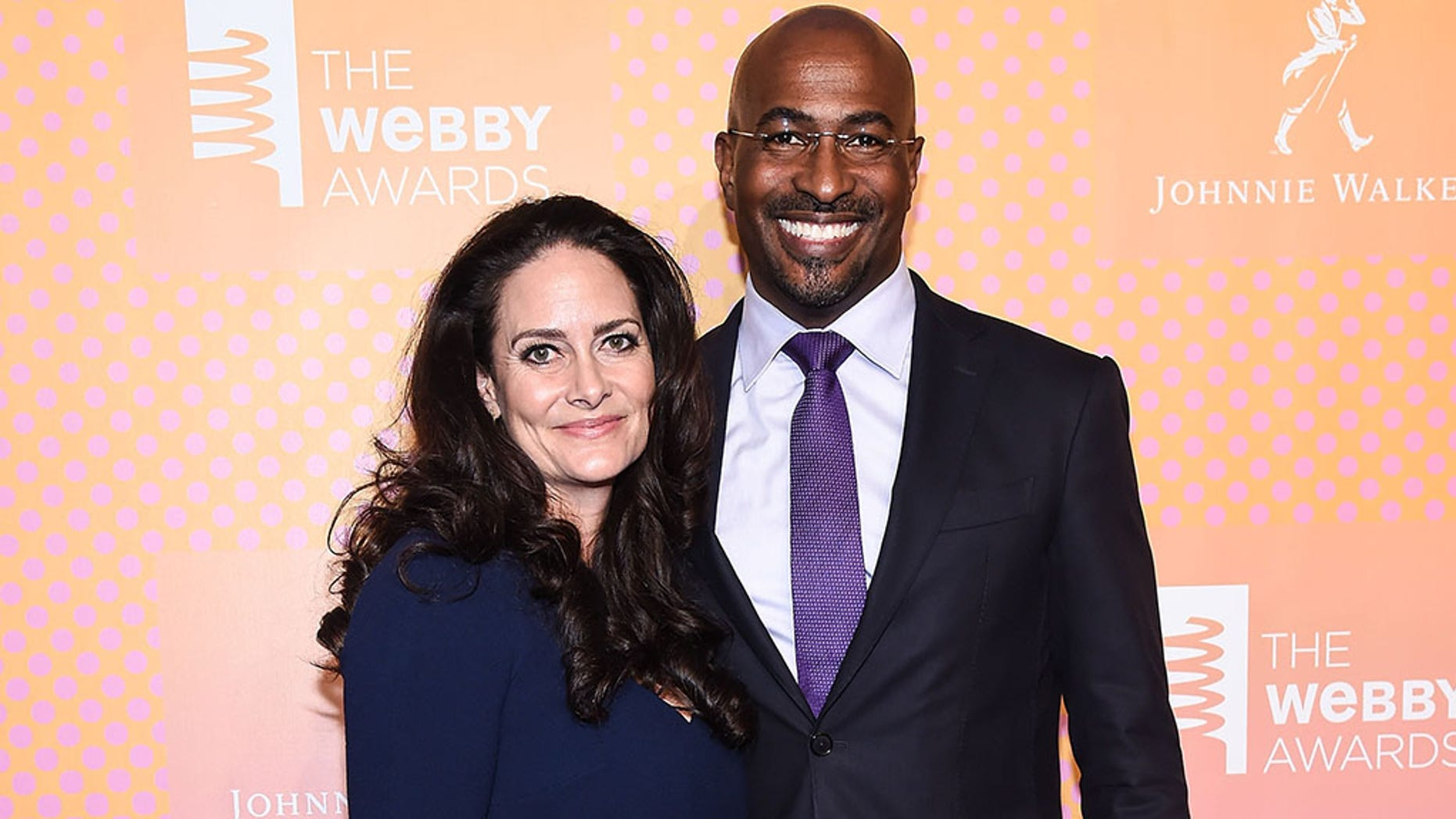 CNN's political commentator, Van Jones, and his wife.