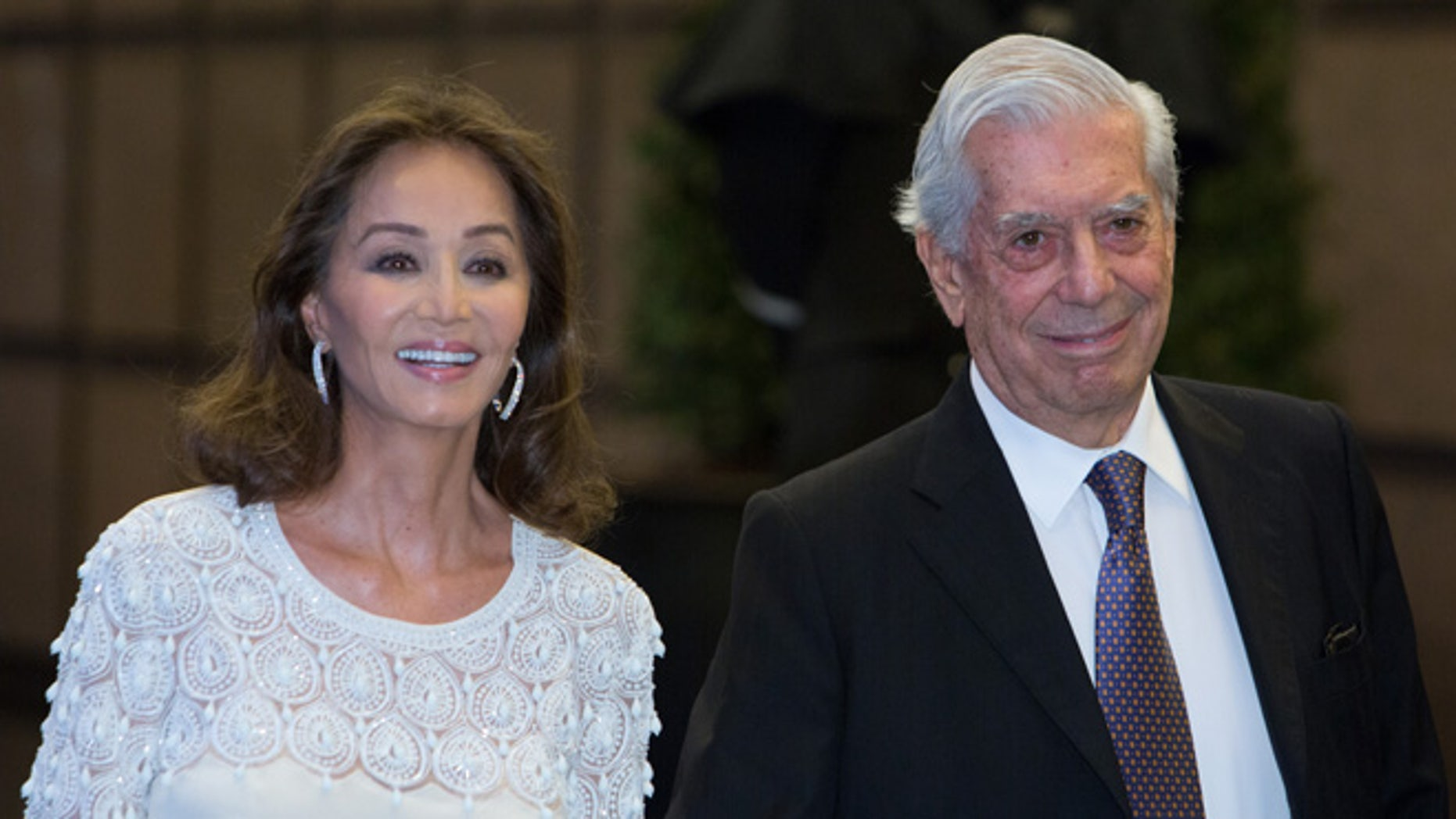 Isabel Preysler and Mario Vargas Llosa on March 28, 2016 in Madrid, Spain.