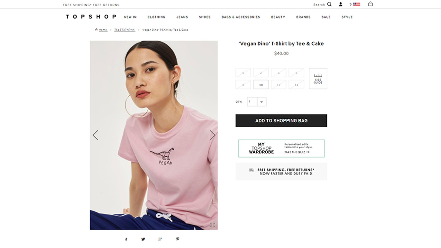 "Topshop's ""vegan"" tee is being called out for having a non-vegan recipe printed on the label."