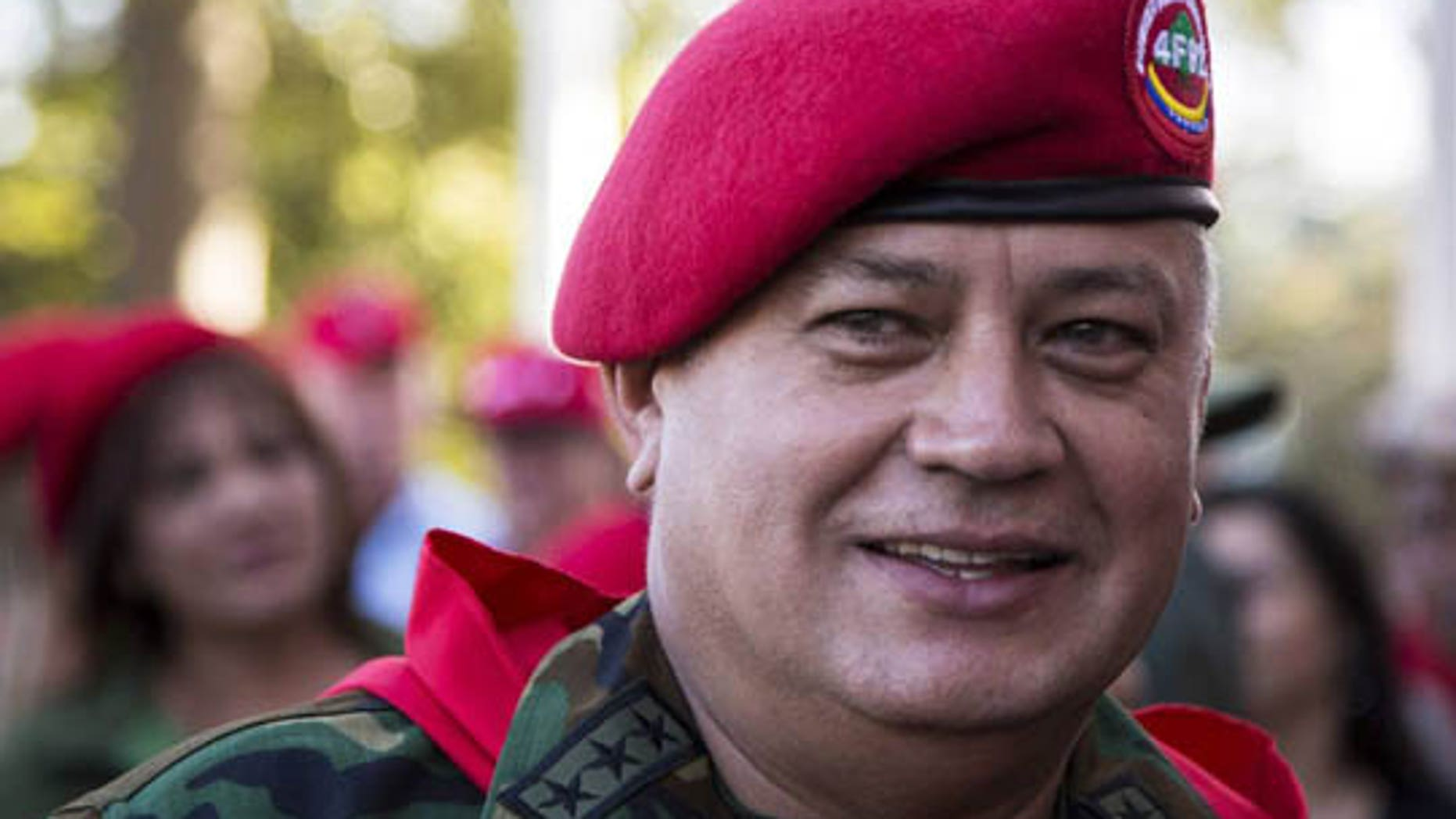 This undated photo shows Diosdado Cabello, president of Venezuela's National Assembly and a leading target of U.S. investigations into alleged drug trafficking and money laundering by senior officials in the South American nation. (Reuters)