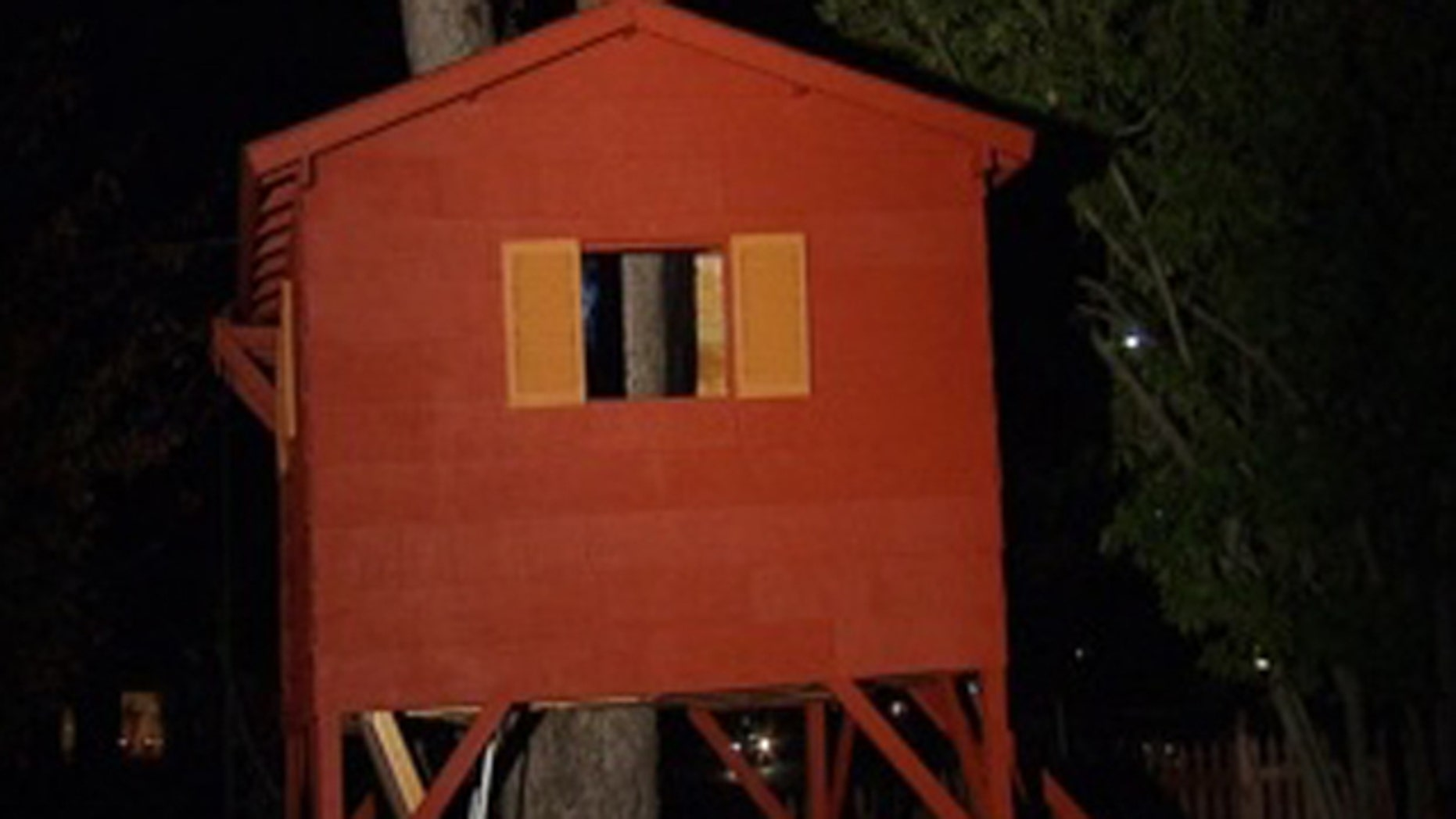 A Virginia dad has won a reprieve from the local zoning board to keep this backyard tree house, a gift to his sons on his return home from serving in Iraq.