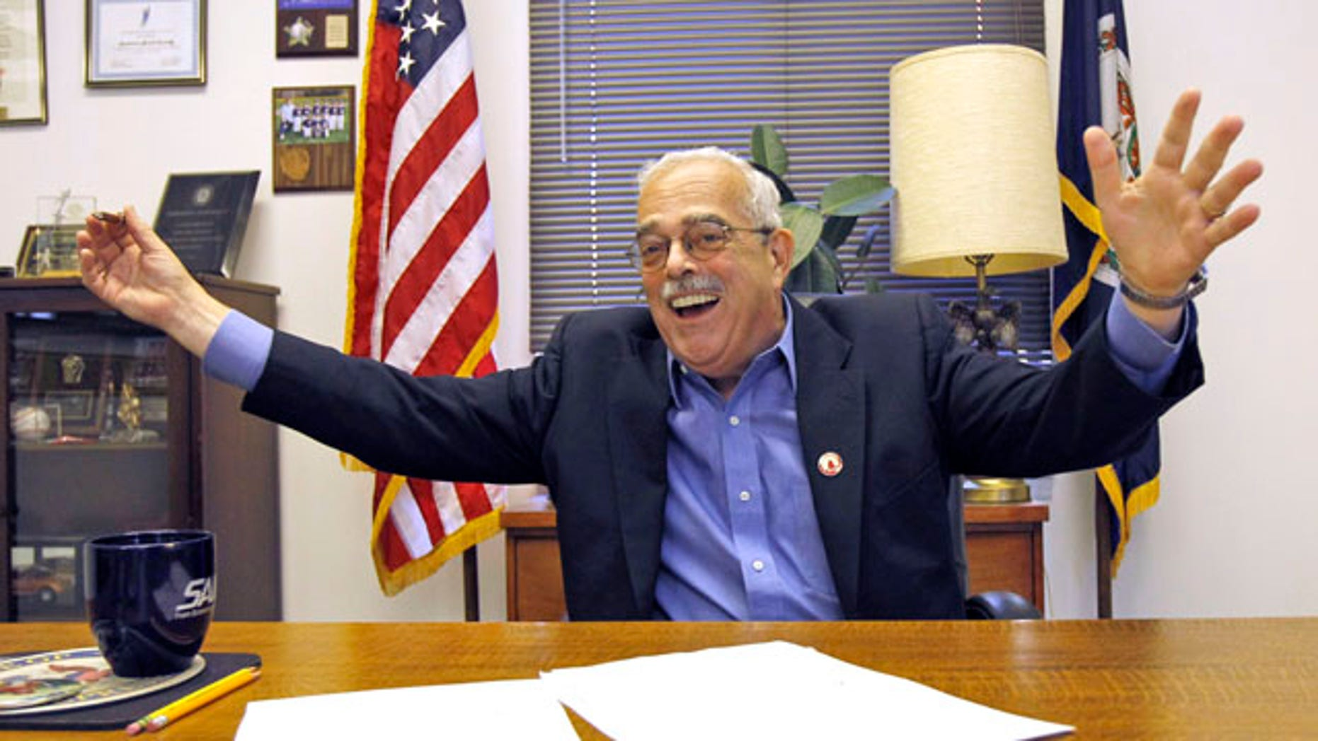 Nov. 9: Rep. Gerry Connolly, D-Va., talks about winning his undecided re-election, at his office in Annandale, Va. A spokesman says he was released from a hospital the previous day after undergoing treatment for a blood clot.