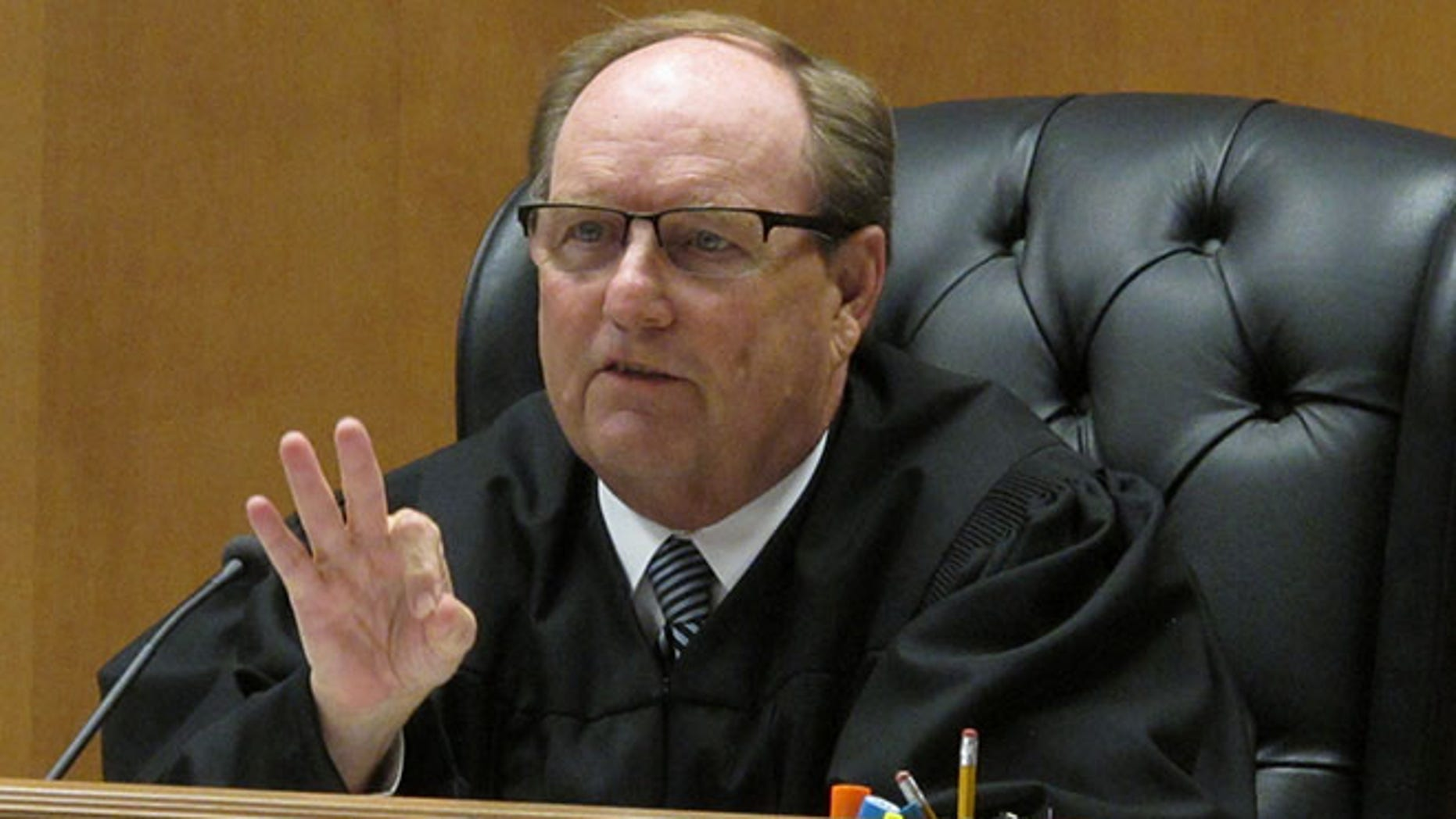 Shawnee County, Kan., District Judge Larry on Friday, July 29, 2016, in Topeka, Kan.