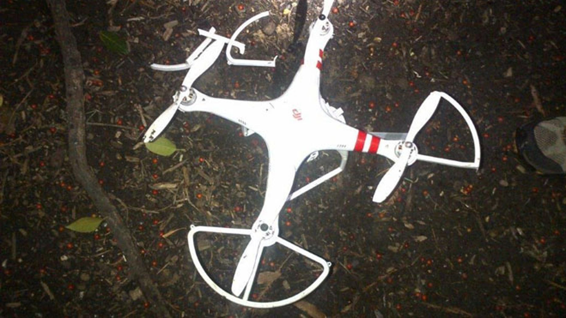 Shown here is a picture of the drone that crashed on the White House grounds in the early morning hours on Jan. 26.