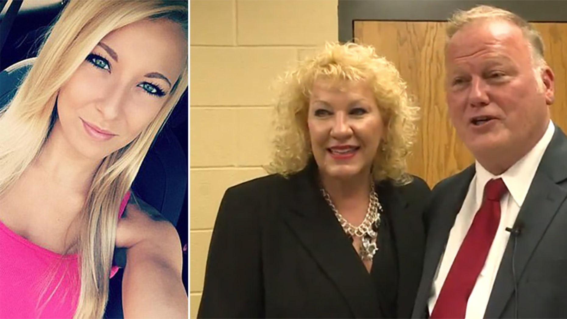 Rebecca Johnson, right, the widow of Kentucky State Rep. Dan Johnson, announced she will be running for his seat. The lawmaker committed suicide Wednesday following sexual assault allegations from Maranda Richmond, left.