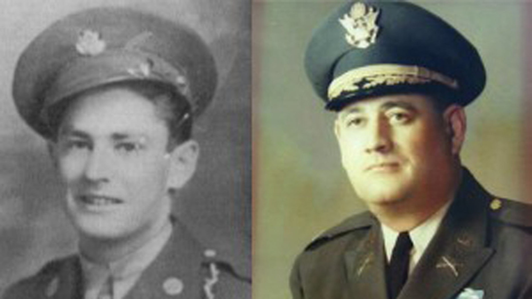 These images, obtained by the Helena Independent Record, show Joe Glass, left, and Mark Radcliffe, right, members of the First Special Service Force during World War II. The two died Sunday just hours apart from each other.