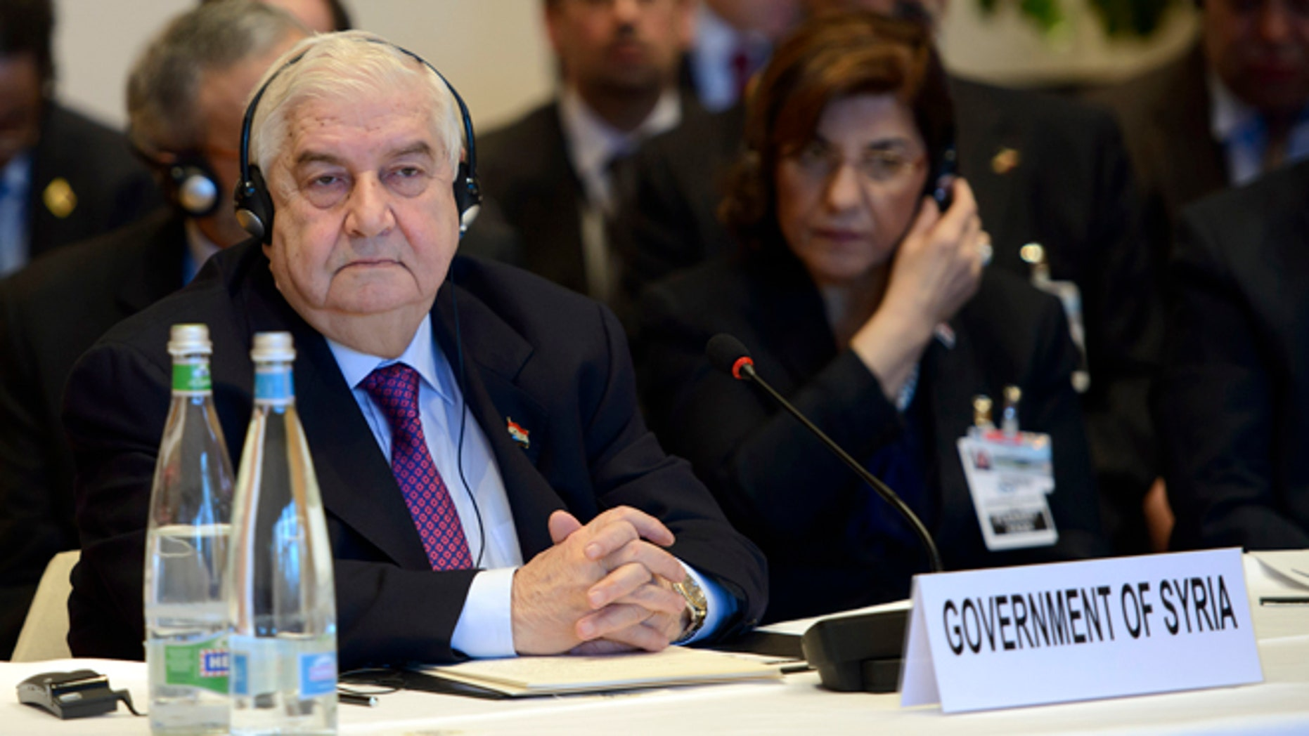 Jan. 22, 2014: Syrian Foreign Minister Walid al-Mouallem, attends the  Geneva II peace talks on Syria  in Montreux Switzerland.