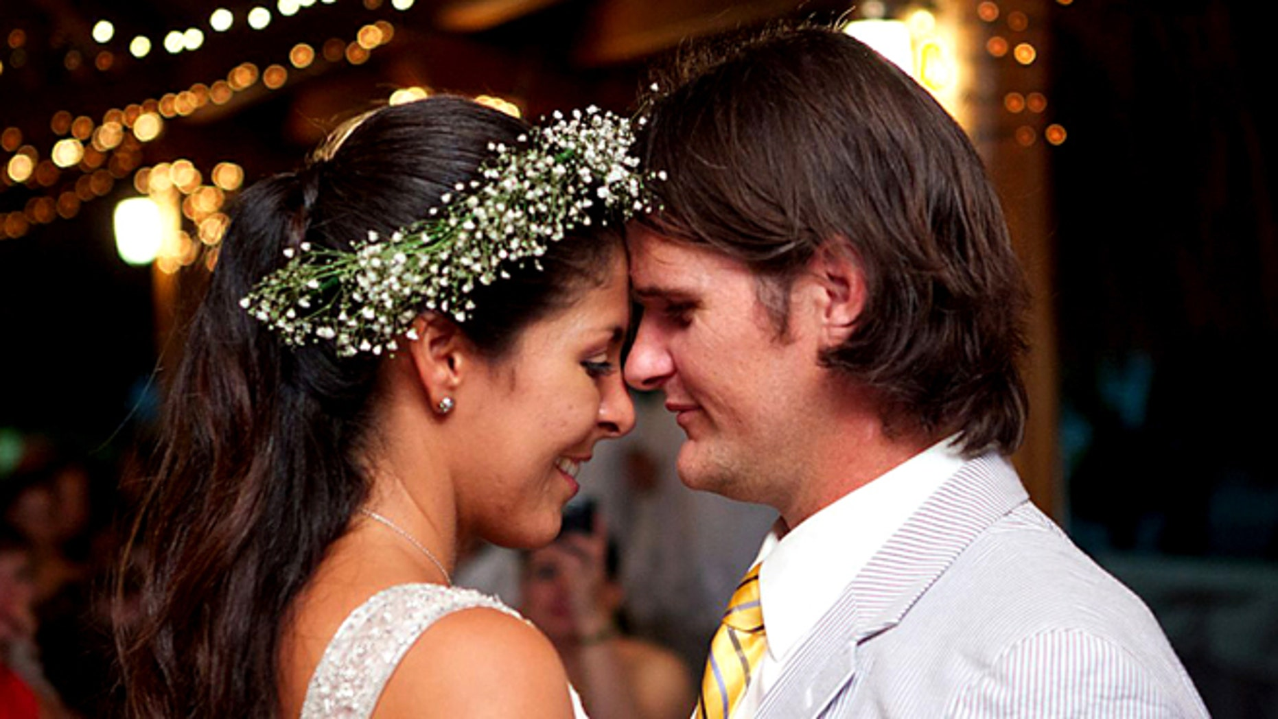 """James """"Terry"""" Watson and his wife Fadia on their wedding day. Watson, a DEA agent, was killed last week in Colombia during a purported botched robbery."""