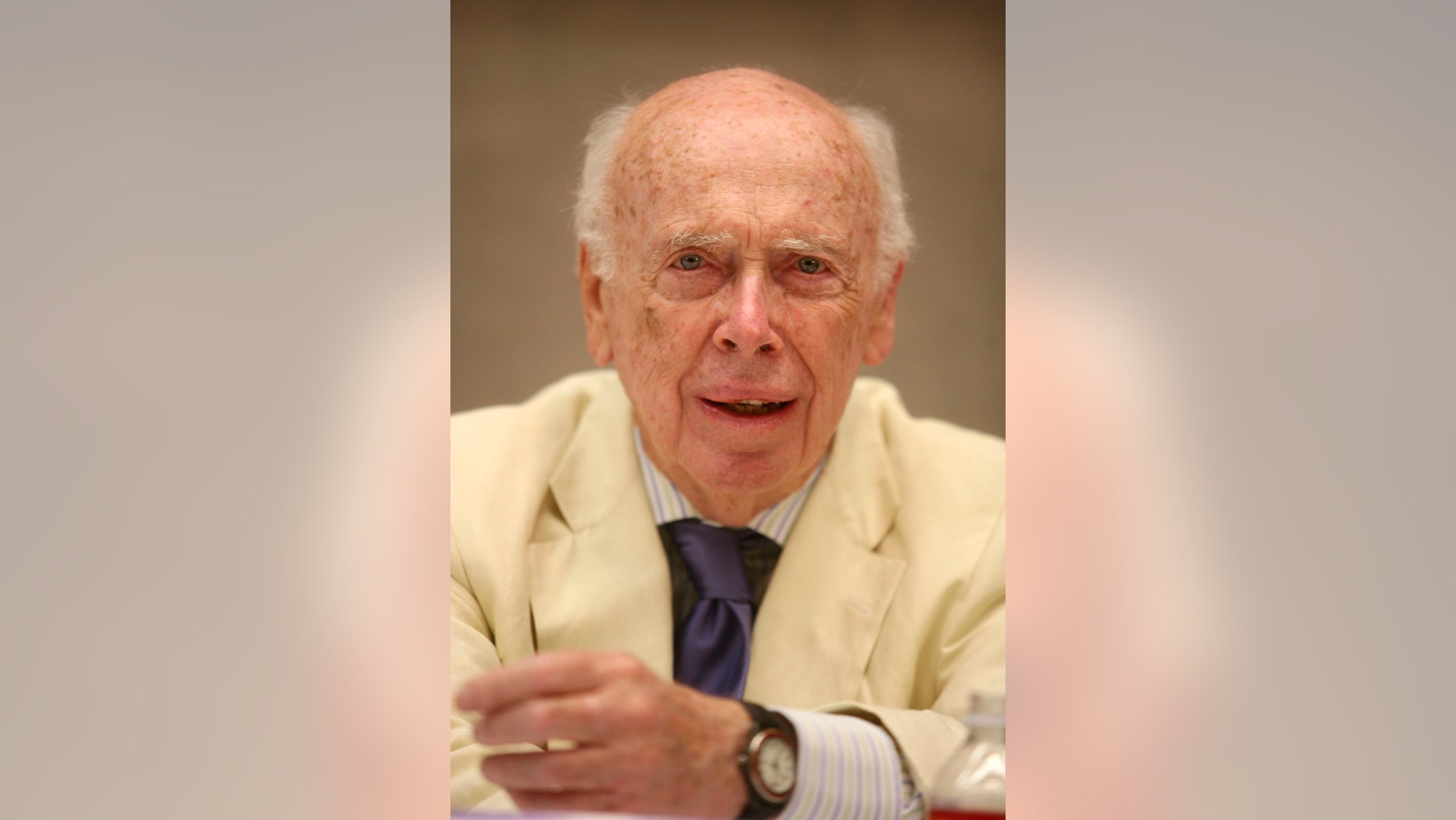 File photo of James Watson, co-discoverer of the DNA helix and father of the Human Genome Project.