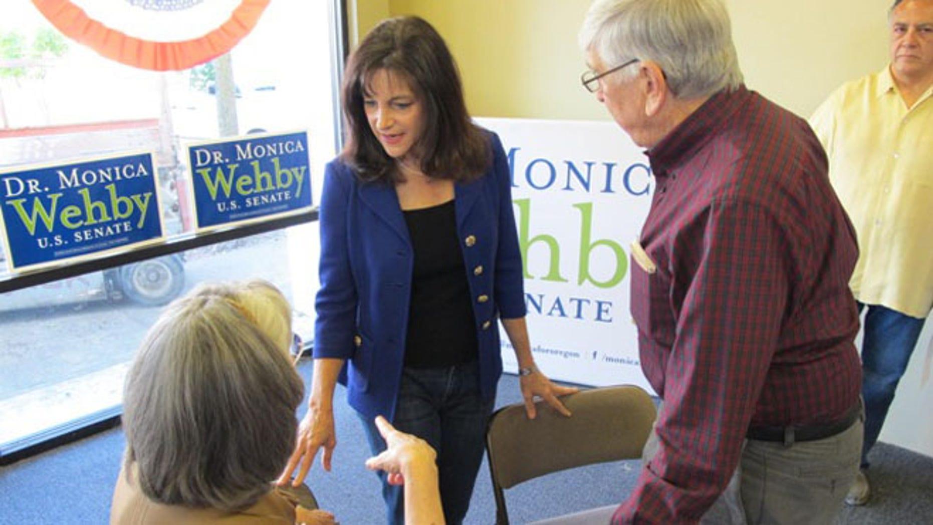 Monica Wehby, Republican Senate candidate in Oregon.