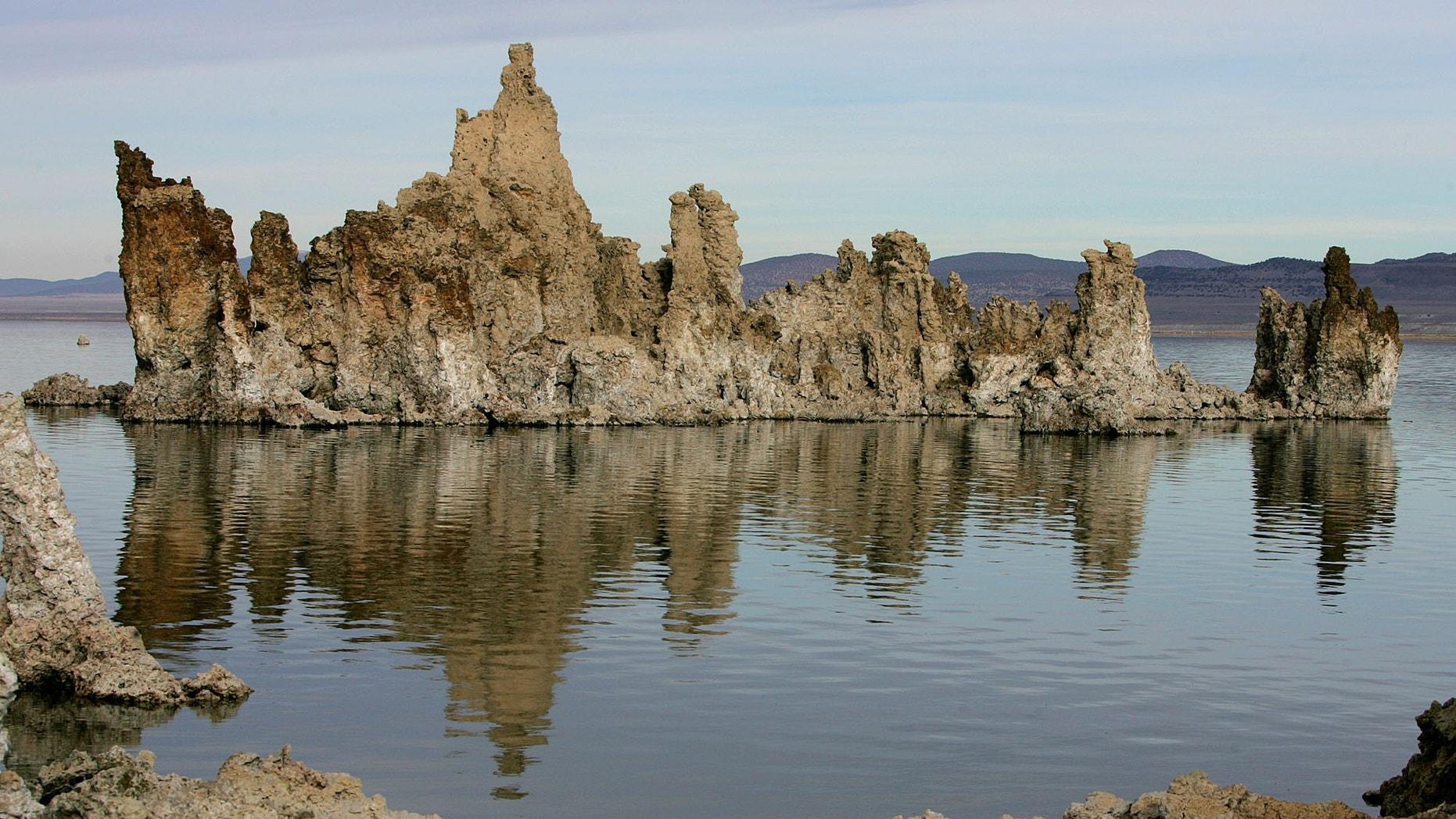 FILE: This photo shows tufa towers in Mono Lake near Lee Vining, Calif.