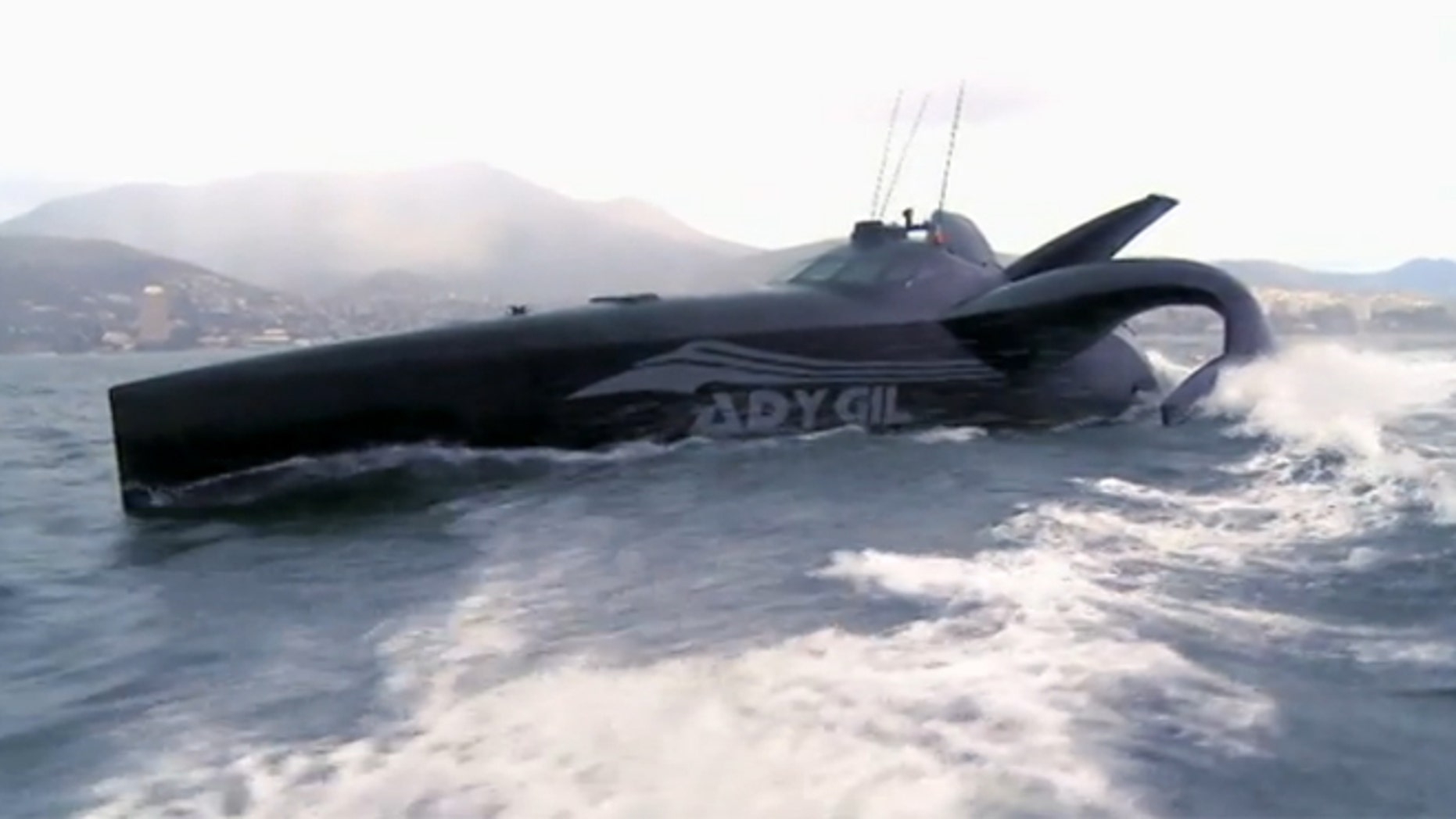"The ship Ady Gil is featured on an episode of ""Whale Wars."""