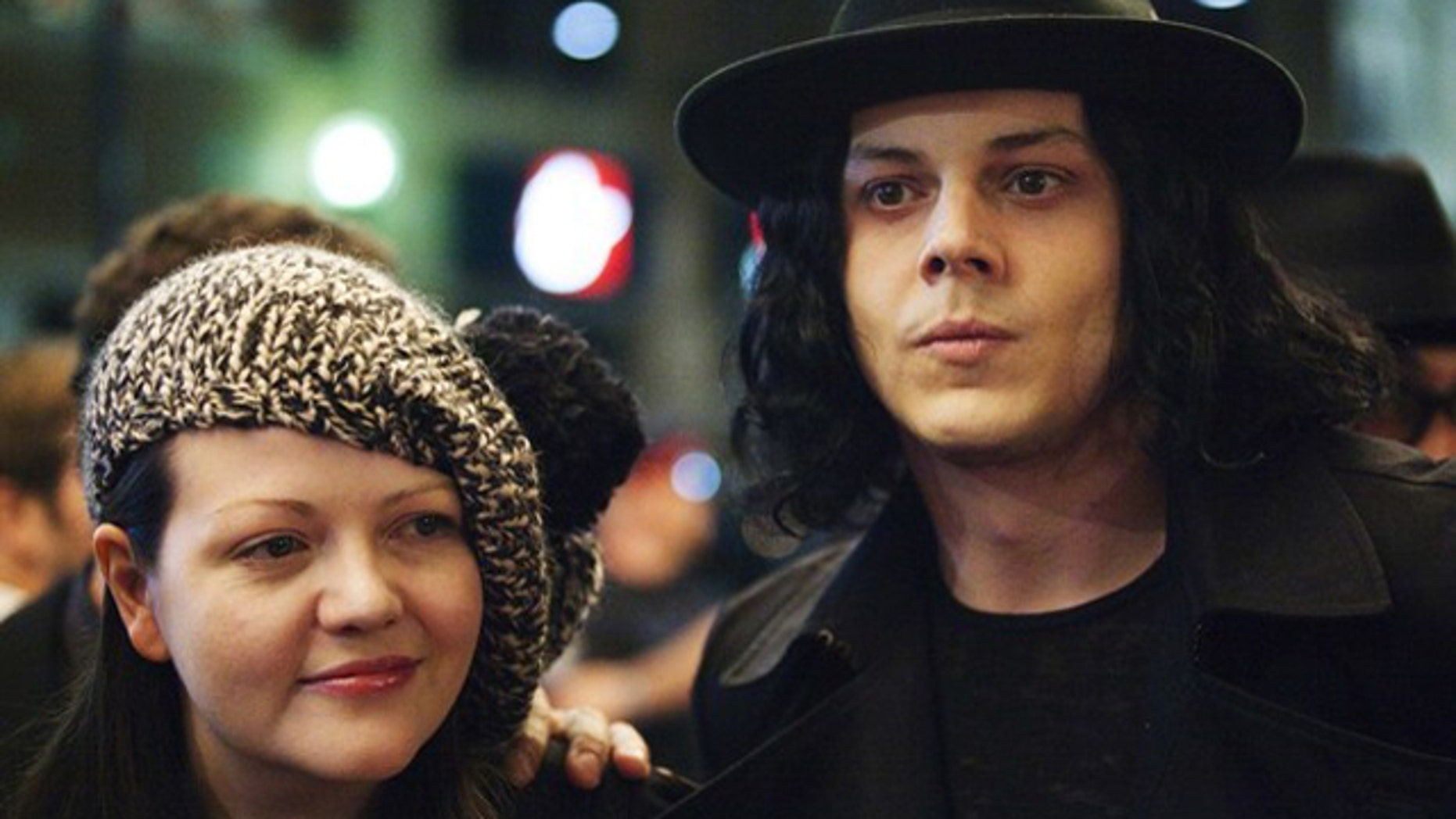 "Jack and Meg White arrive for the  ""White Stripes: Under the Great White Northern Lights""  film screening during the 34th Toronto International Film Festival, September 18, 2009. The festival runs from September 10-19.    REUTERS/Mark Blinch (CANADA ENTERTAINMENT)"