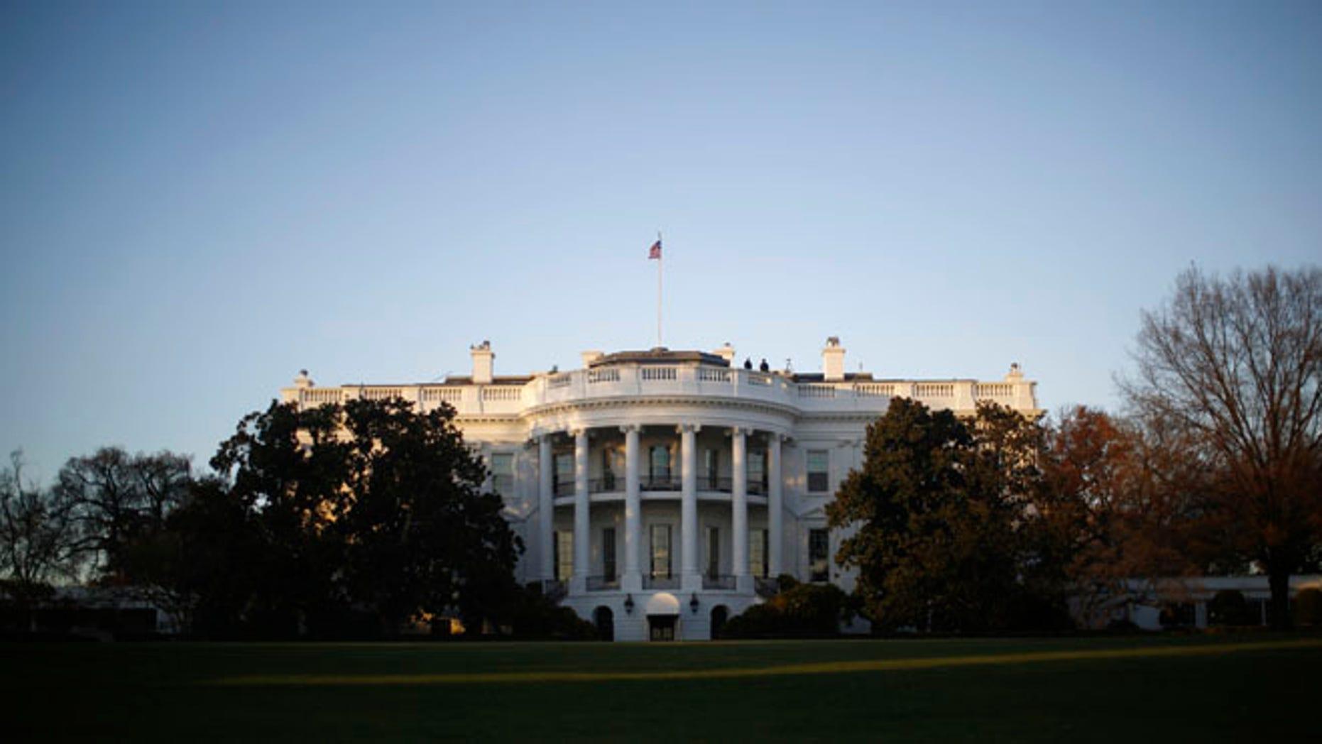 The White House in Washington, November 19, 2013.
