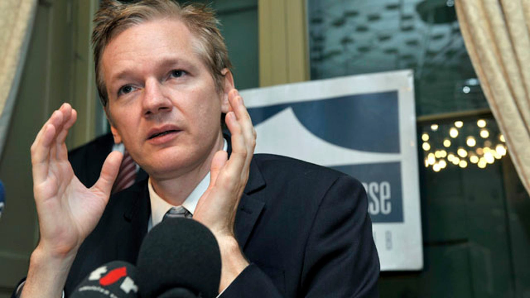 Nov. 4: WikiLeaks founder Julian Assange speaks about the United States and human rights during a press conference at the Geneva press club in Geneva, Switzerland. WikiLeaks posted a message on Twitter that the website's next release will be seven times the size of the largest leak in the history of U.S. intelligence.